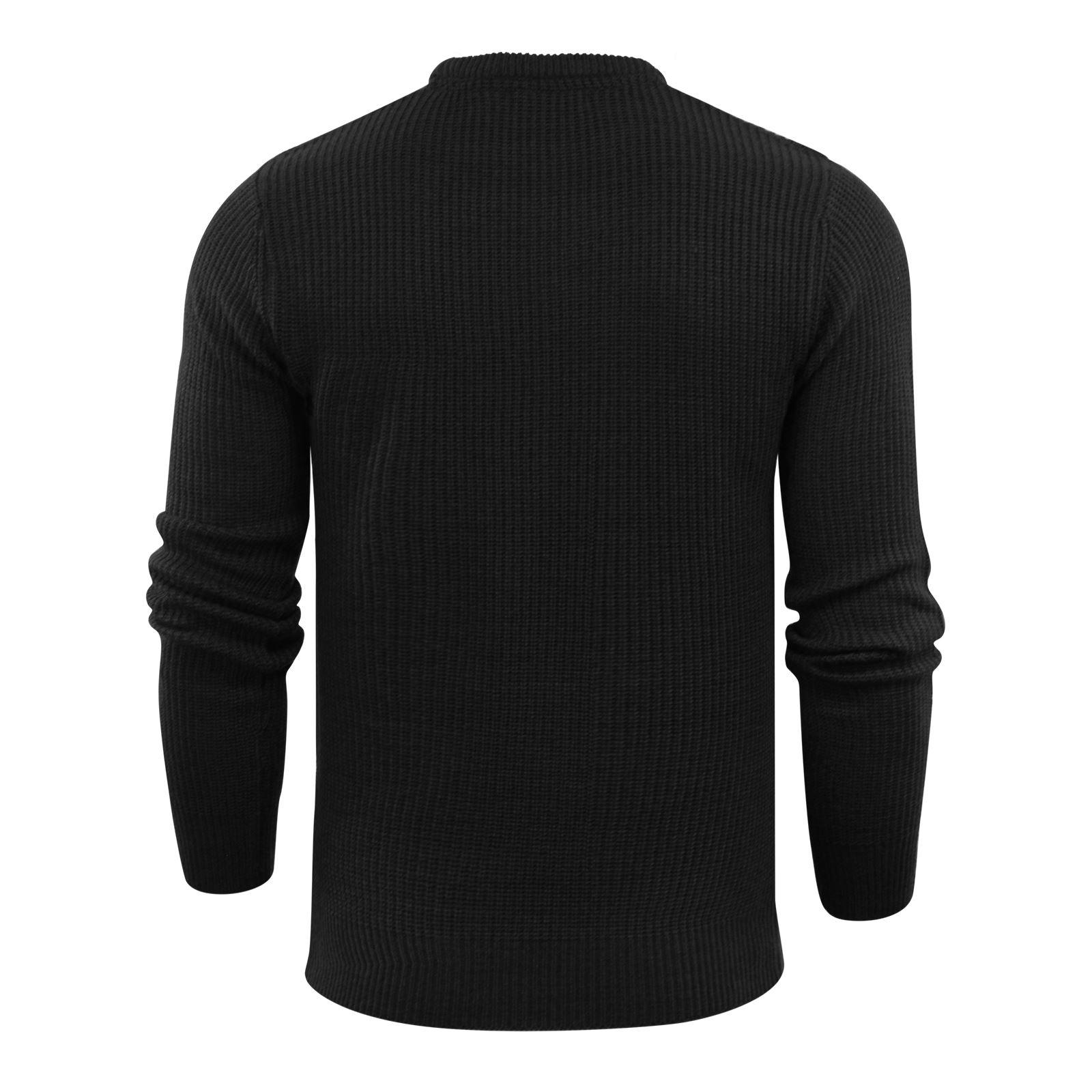 Brave-Soul-Fulton-Mens-Jumper-Kintted-Crew-Neck-Sweater thumbnail 7