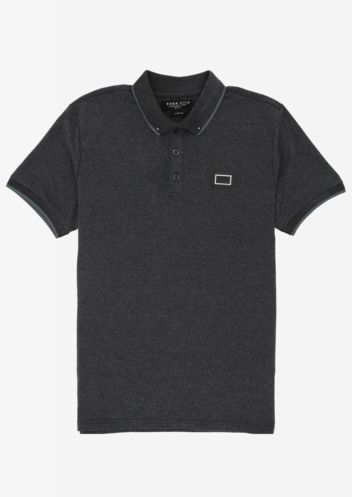 Ne-riche-par-l-039-argent-vetements-Iolite-Homme-Polo-T-Shirt-Cloute-Col-Haut-Decontracte miniature 4