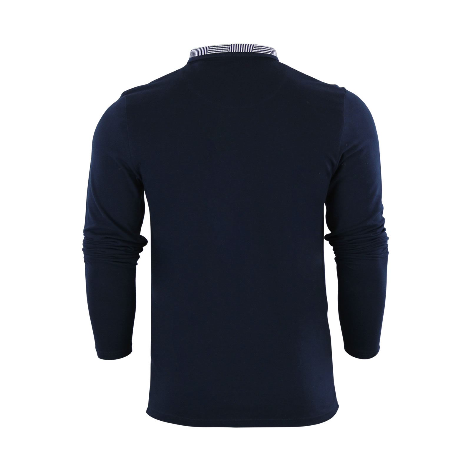 Mens-Polo-Shirt-Brave-Soul-Long-Sleeve-Collared-Top-In-Various-Styles thumbnail 24