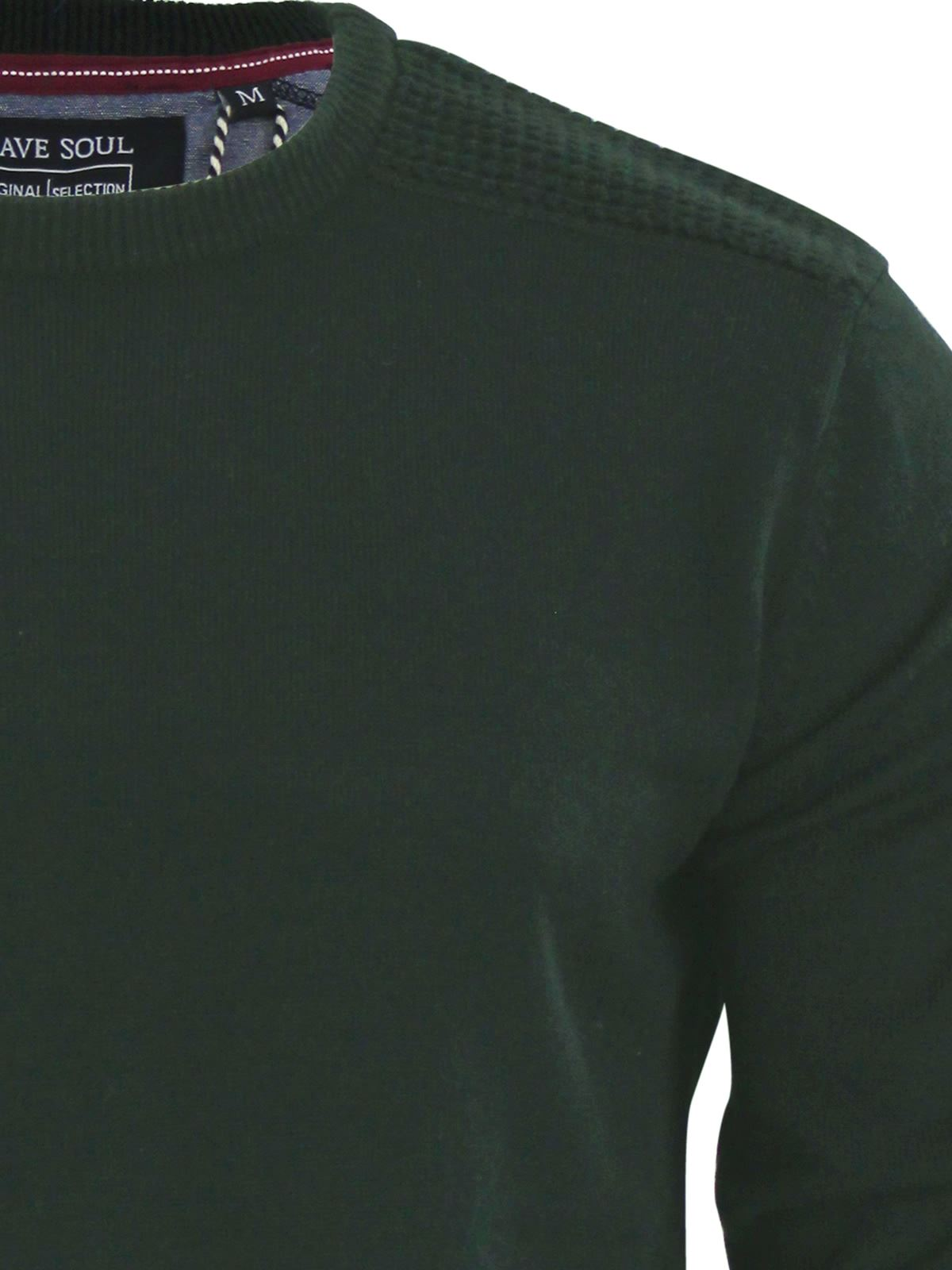 Mens-Jumper-Brave-Soul-Knitted-Sweater-In-Various-Styles thumbnail 78