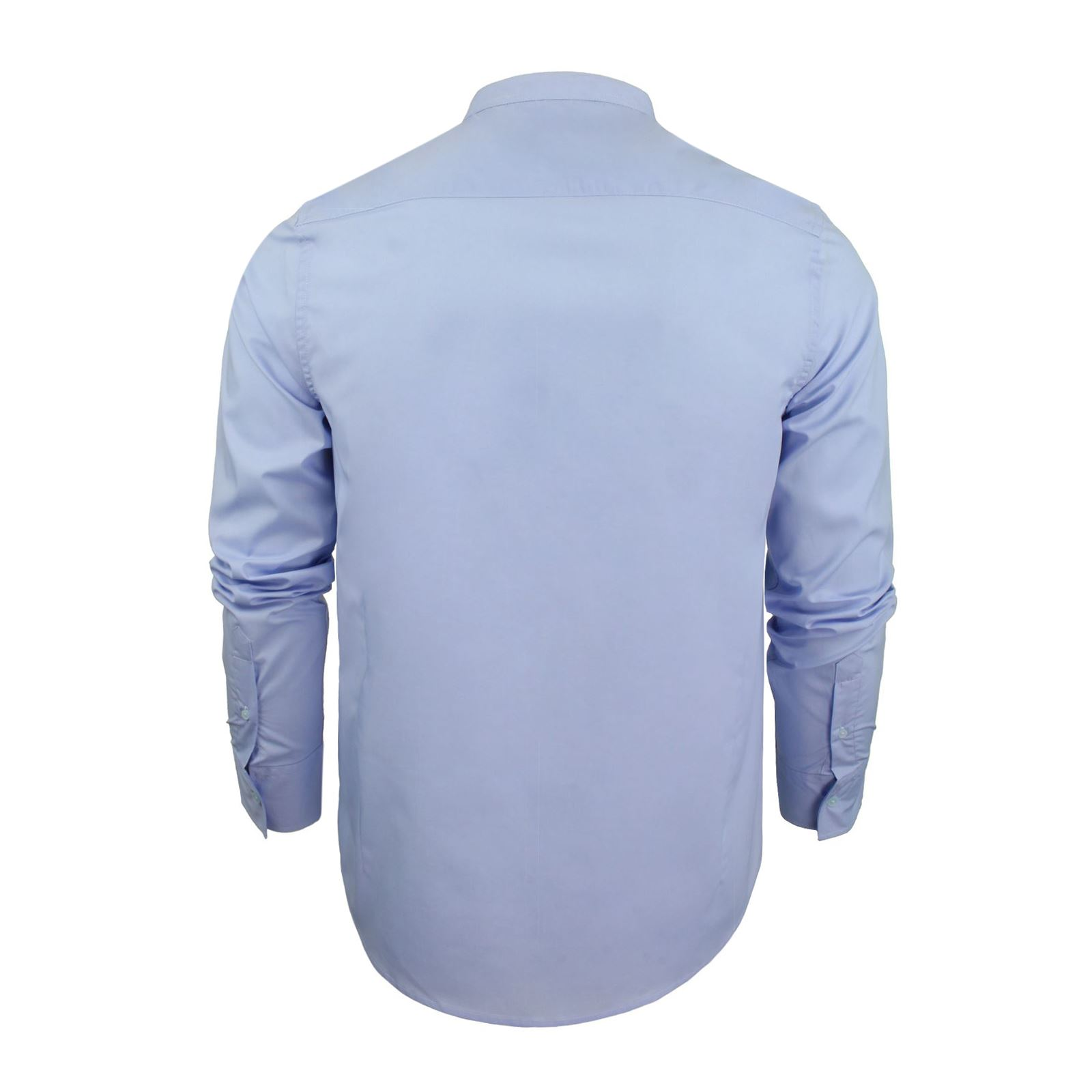 Mens-Shirt-Brave-Soul-Magnus-Plain-Grandad-Collar-Long-Sleeve-Casual-Top thumbnail 7