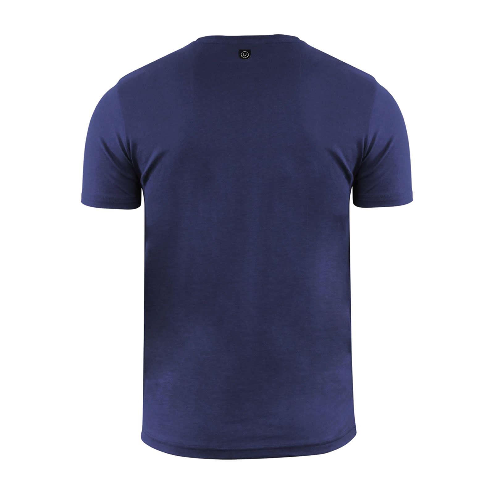 miniature 5 - Hommes-T-Shirt-Duck-amp-Cover-Quoins-coton-graphique-a-encolure-ras-du-cou-a-manches-courtes-Tee