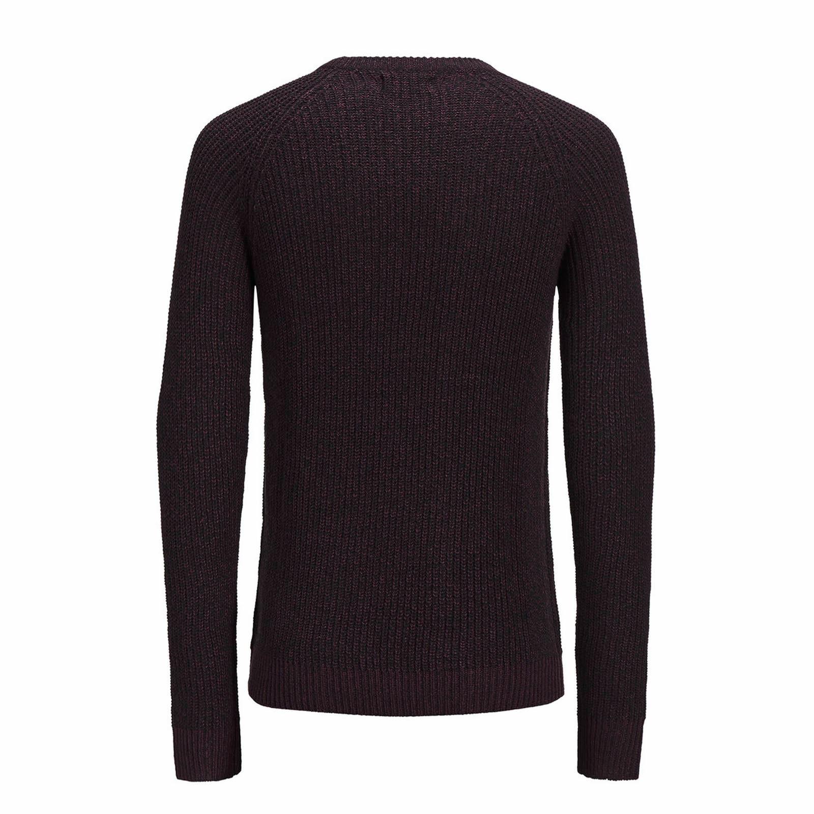 Jack-amp-Jones-Panneau-Pull-homme-a-encolure-ras-du-cou-Long-Tricot-Pull-Over-Sweater miniature 7