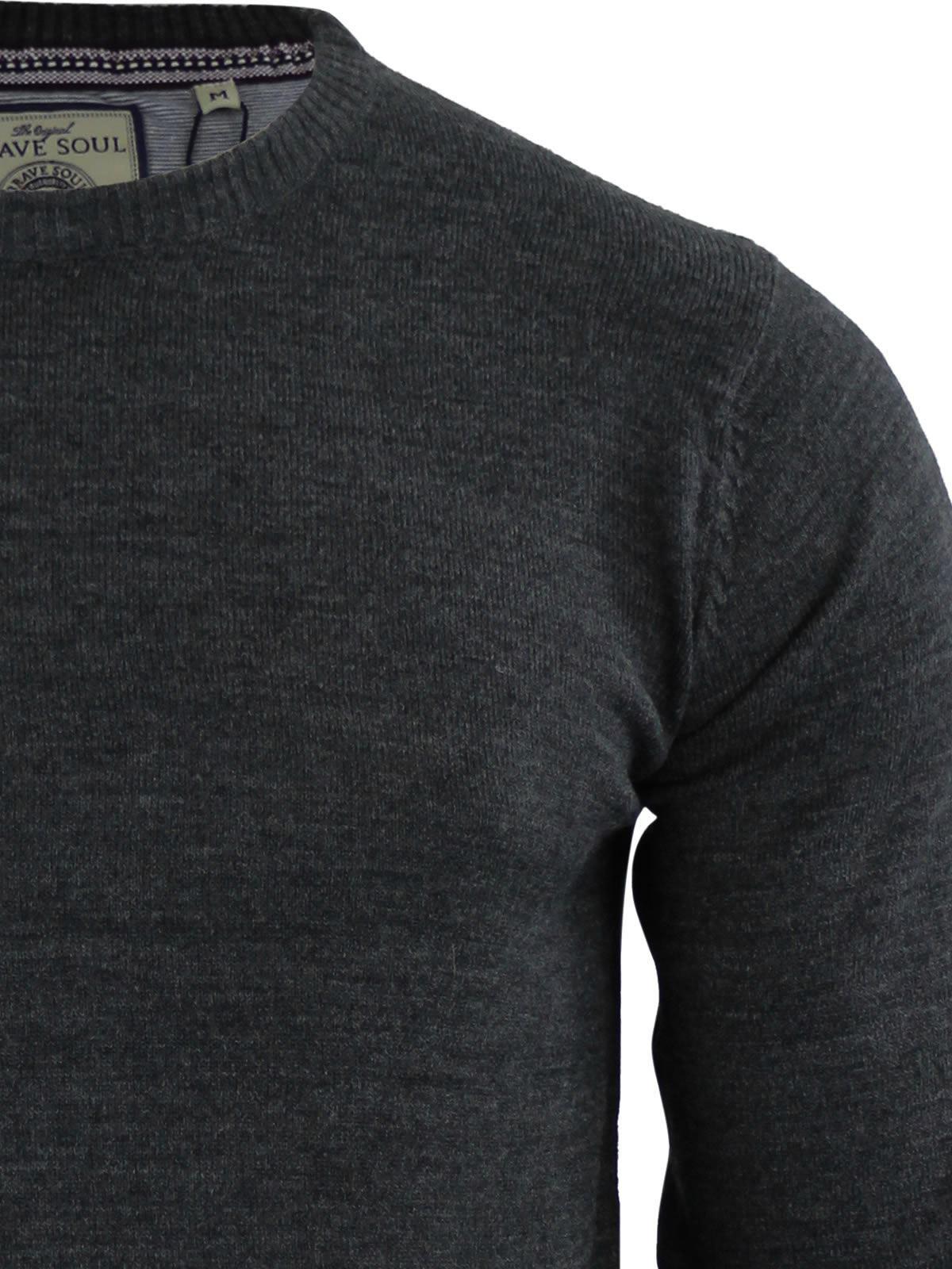 Mens-Jumper-Brave-Soul-Urbain-Knitted-Crew-Neck-Sweater thumbnail 16