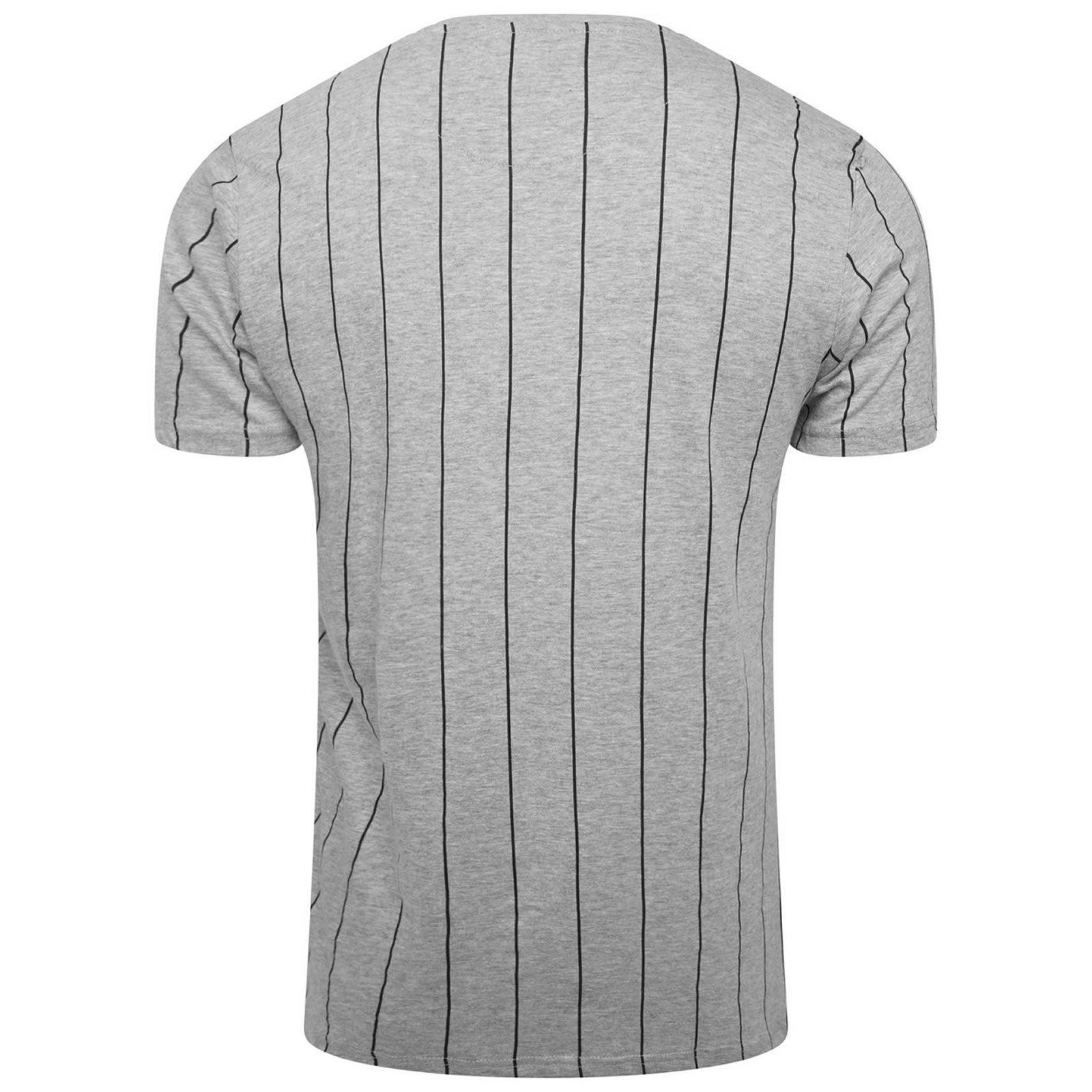 Hommes-T-Shirt-Brave-Soul-Stobart-a-encolure-ras-du-cou-a-manches-courtes-a-rayures-verticales-Tee miniature 3