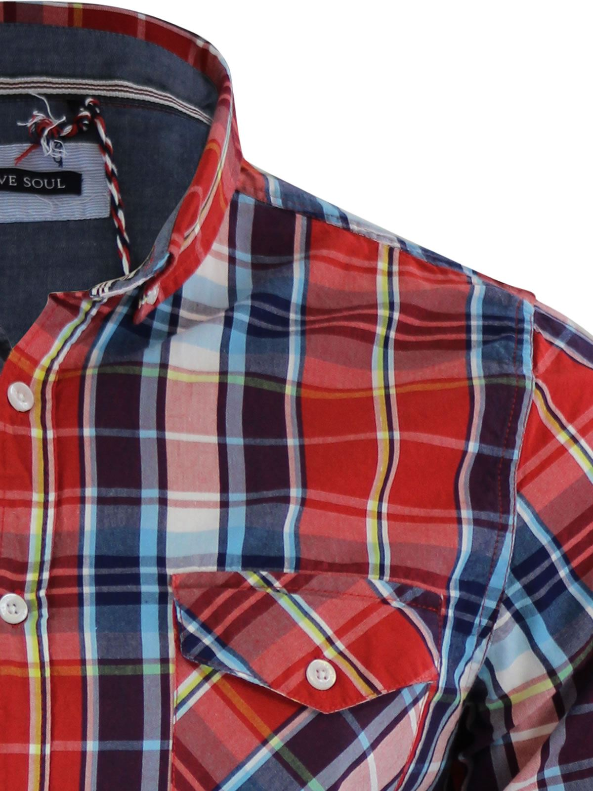 Mens-Check-Shirt-Brave-Soul-Flannel-Brushed-Cotton-Long-Sleeve-Casual-Top thumbnail 52