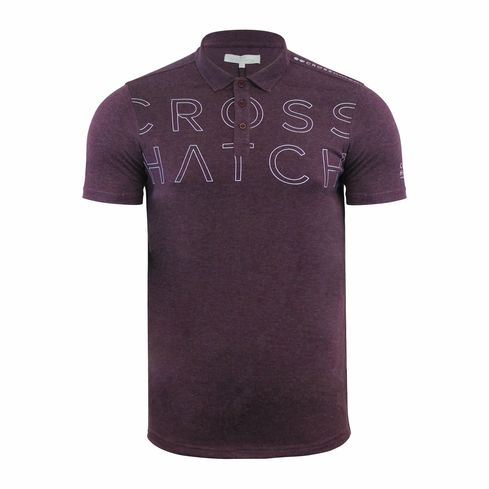 Crosshatch-Mens-Polo-T-Shirt-Pique-Polo-Cotton-Collared-Short-Sleeve-T-Shirt thumbnail 48