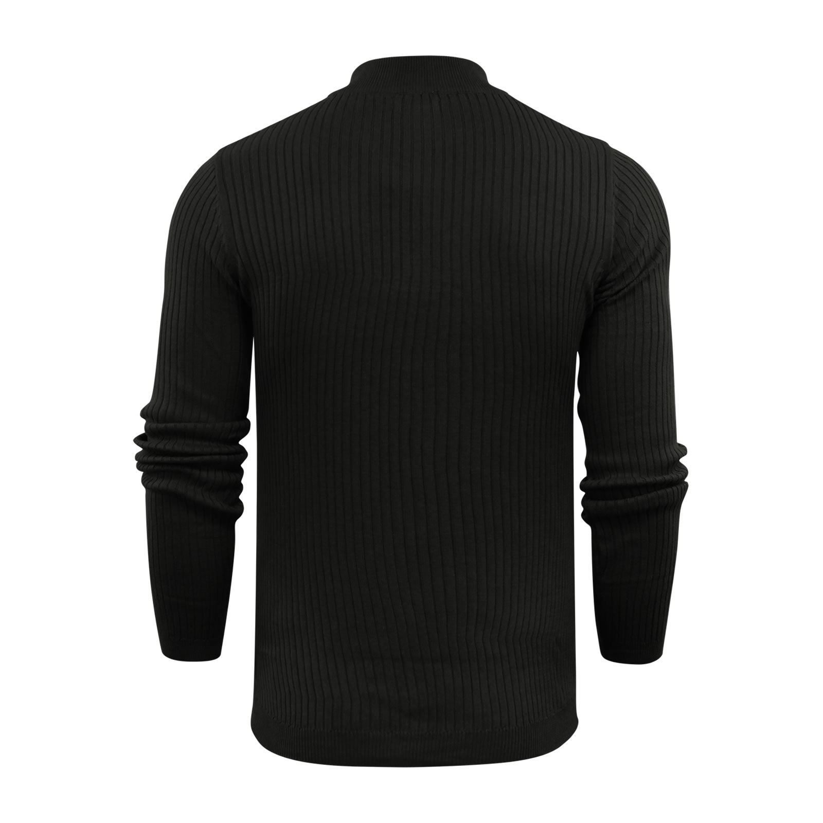 Brave-Soul-Mutant-Pull-Homme-Cotele-Col-Roule-Tricot-Pull miniature 7