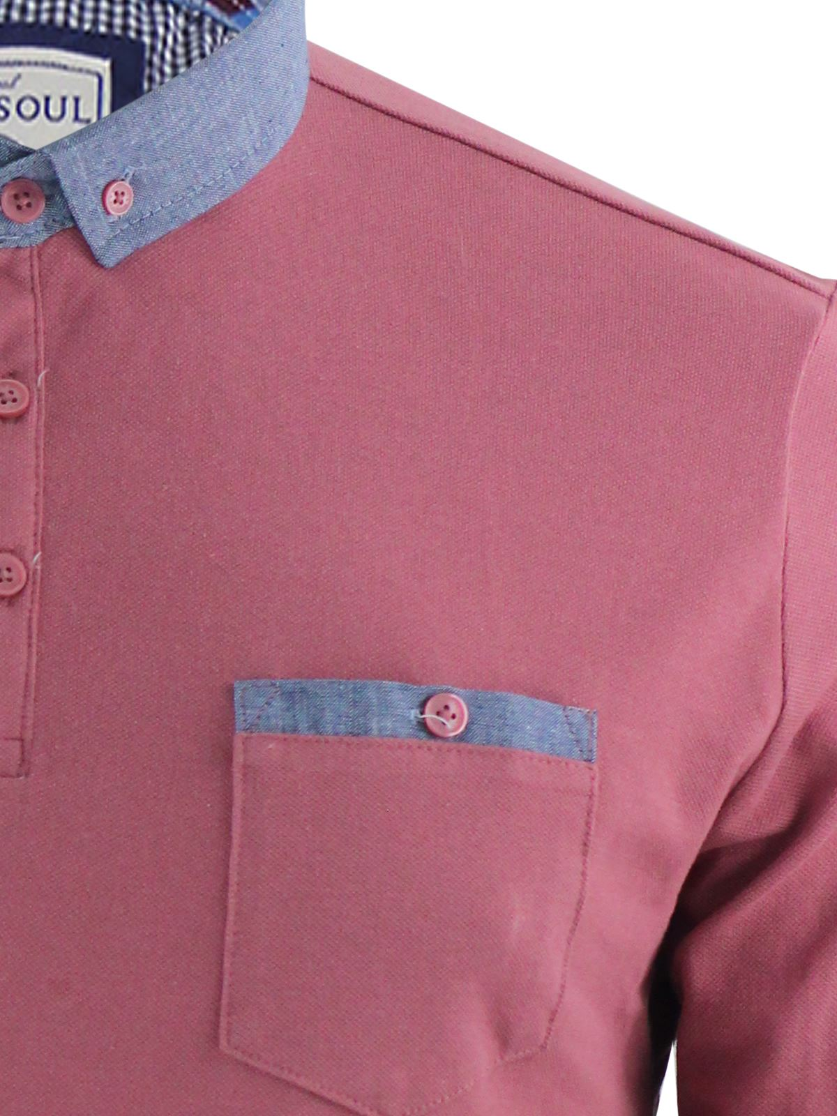 thumbnail 13 - Mens-Polo-T-Shirt-Brave-Soul-Hera-Cotton-Long-Sleeve-Casual-Top