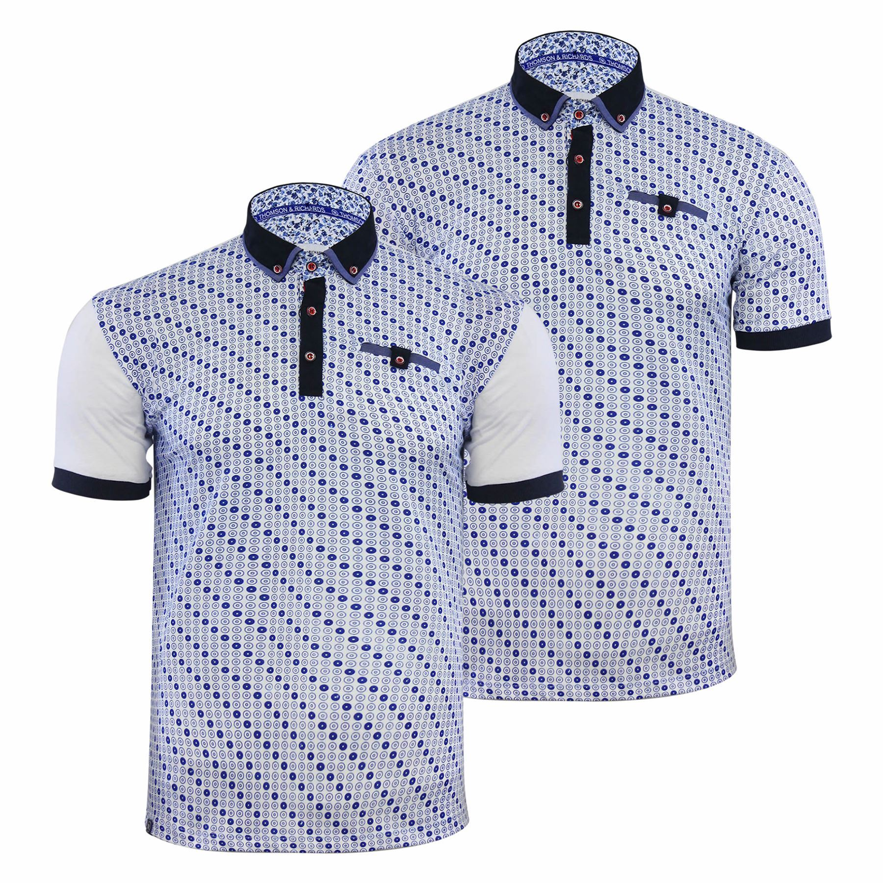 25cbda747f Thomson   Richards Algate Mens Polo T Shirt Printed Short Sleeve Collared  Top