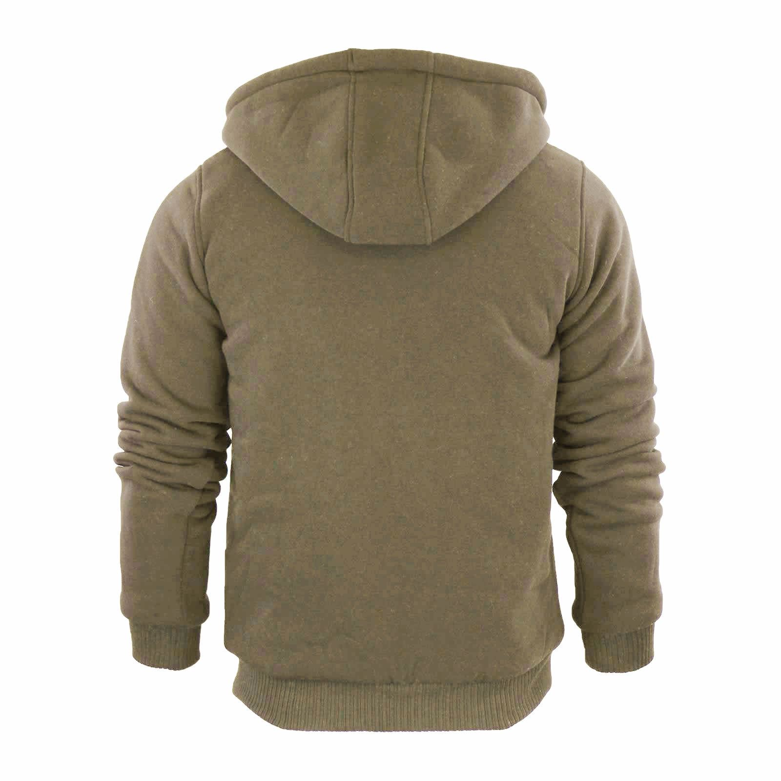 Mens-Hoodie-Brave-Soul-Zone-Sherpa-Fleece-Lined-Zip-Up-Hooded-Sweater thumbnail 15