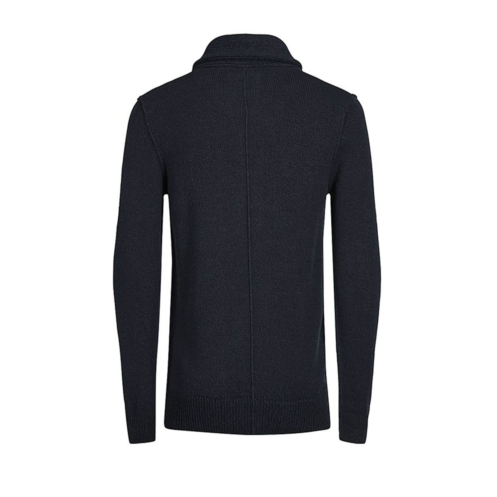 Mens-Cardigan-Jumper-JACK-amp-JONES-Instinct-Shawl-Neck-Button-Up-Sweater thumbnail 5