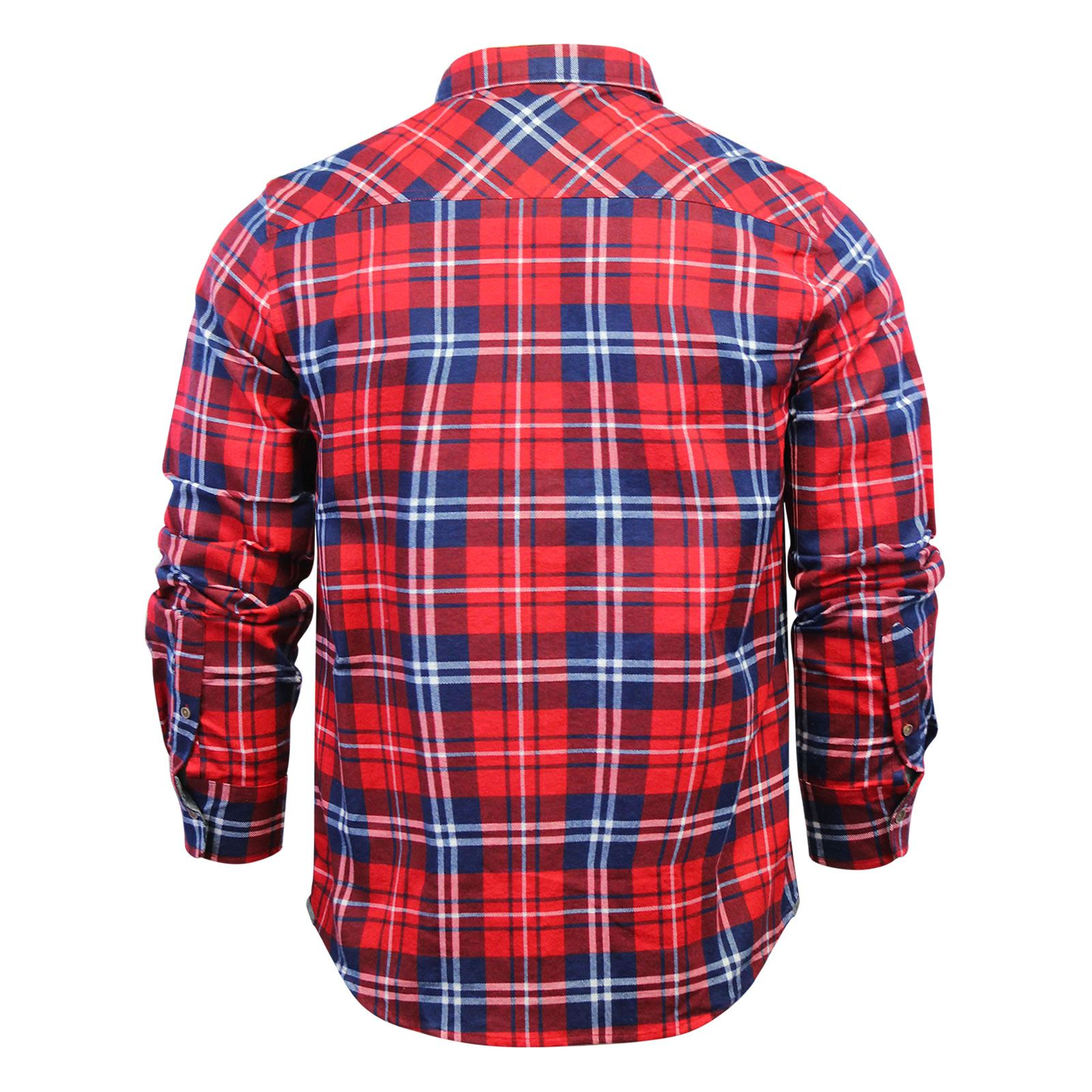 Mens-Check-Shirt-Brave-Soul-Flannel-Brushed-Cotton-Long-Sleeve-Casual-Top thumbnail 89
