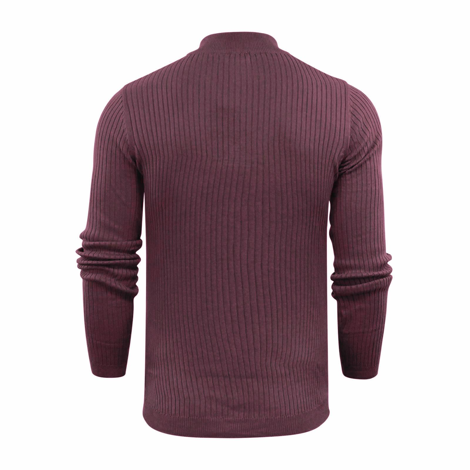 Brave-Soul-Mutant-Pull-Homme-Cotele-Col-Roule-Tricot-Pull miniature 11
