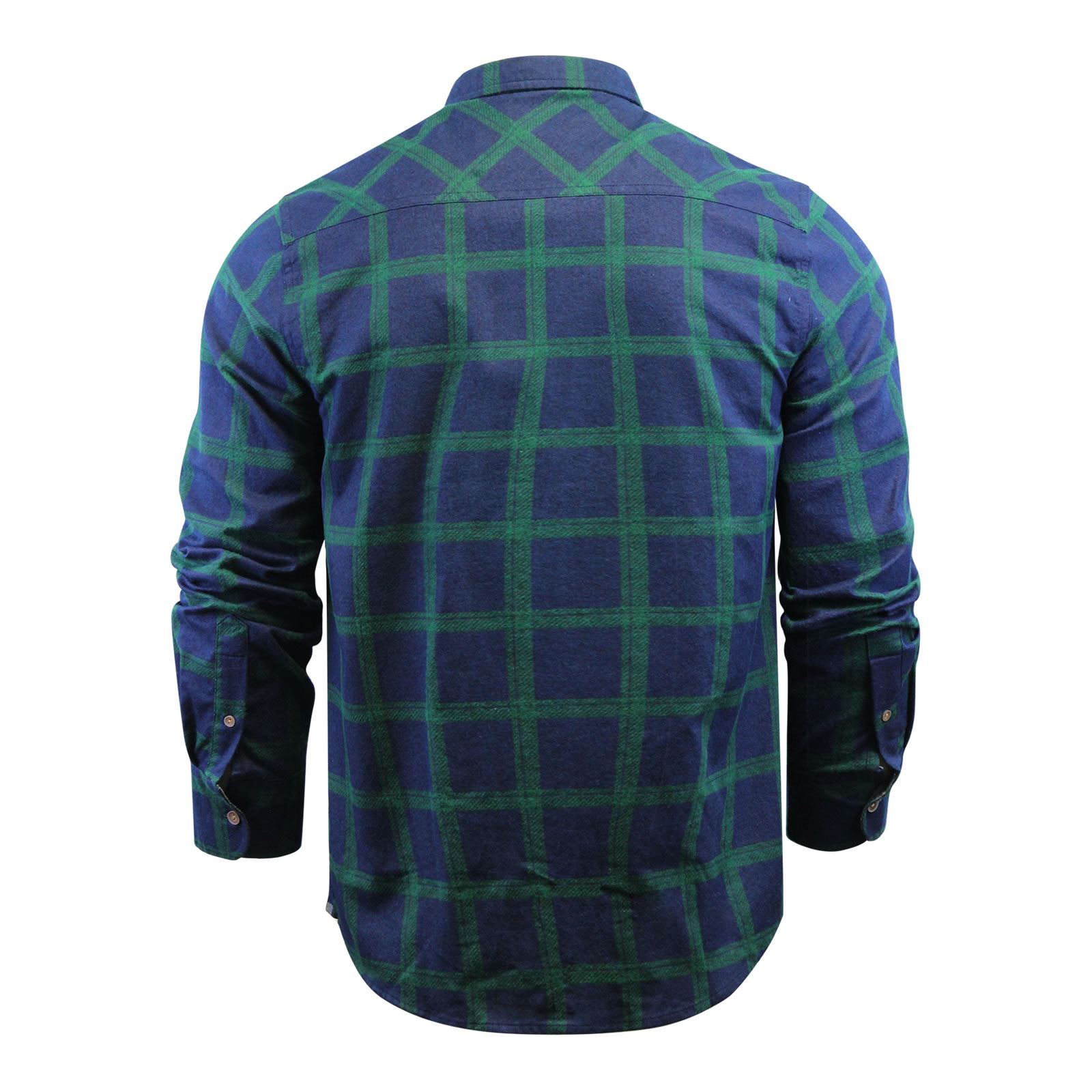 Mens-Check-Shirt-Brave-Soul-Flannel-Brushed-Cotton-Long-Sleeve-Casual-Top thumbnail 101