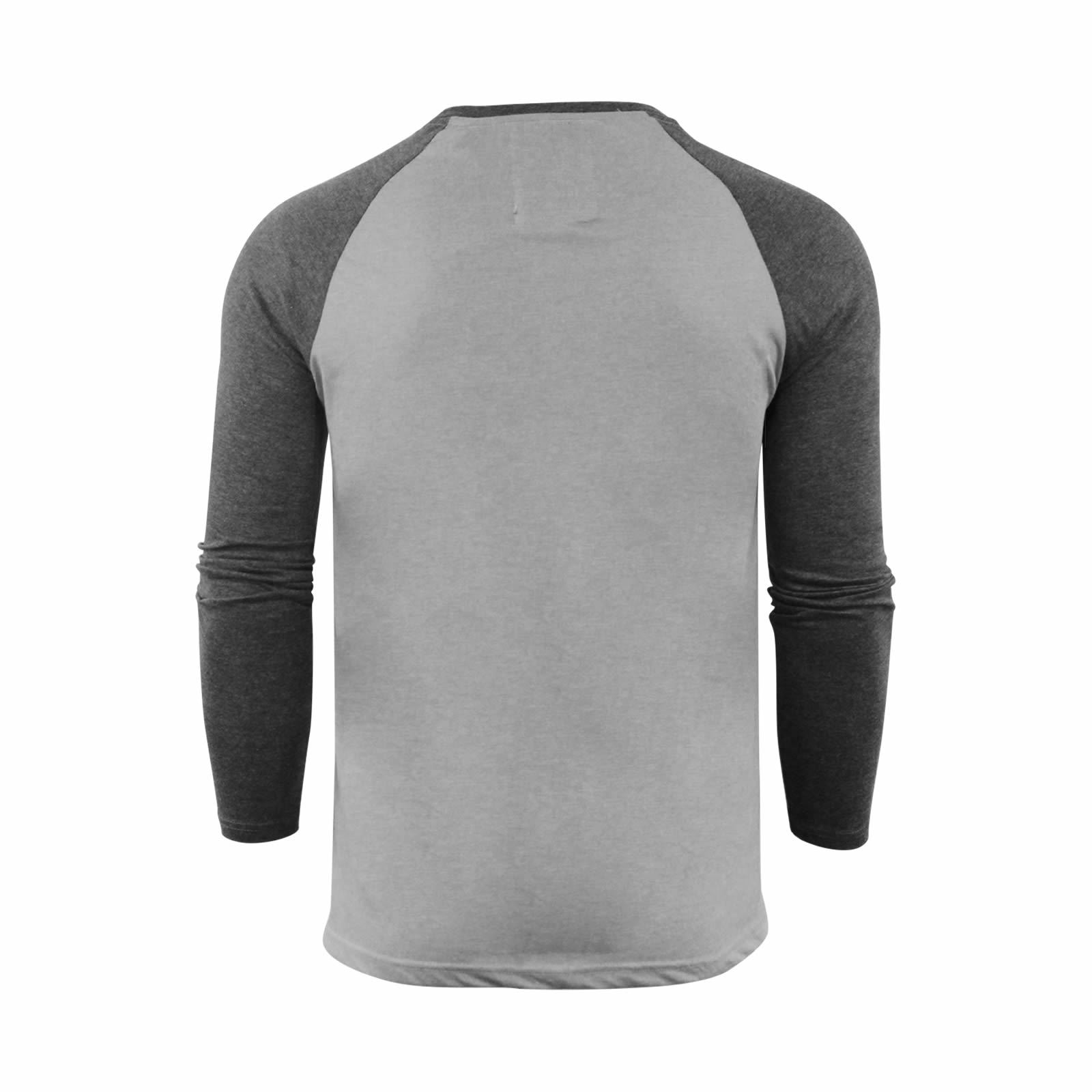 Brave-Soul-Rasmus-Hommes-t-shirt-HENLEY-col-a-manches-longues-Top-Casual miniature 11