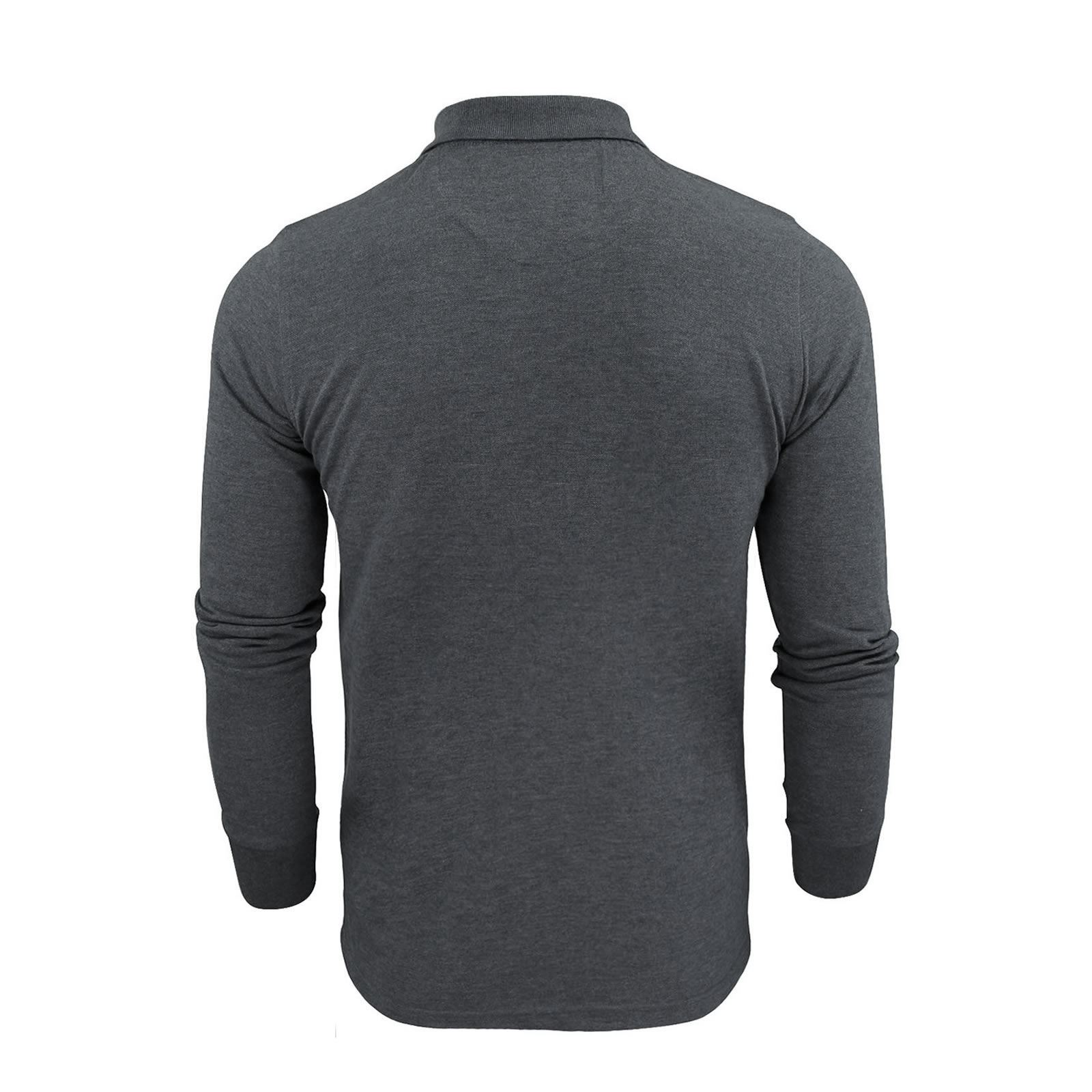 Brave-Soul-Mens-Polo-Shirt-Long-Sleeve-Collared-Top-In-Various-Styles thumbnail 33