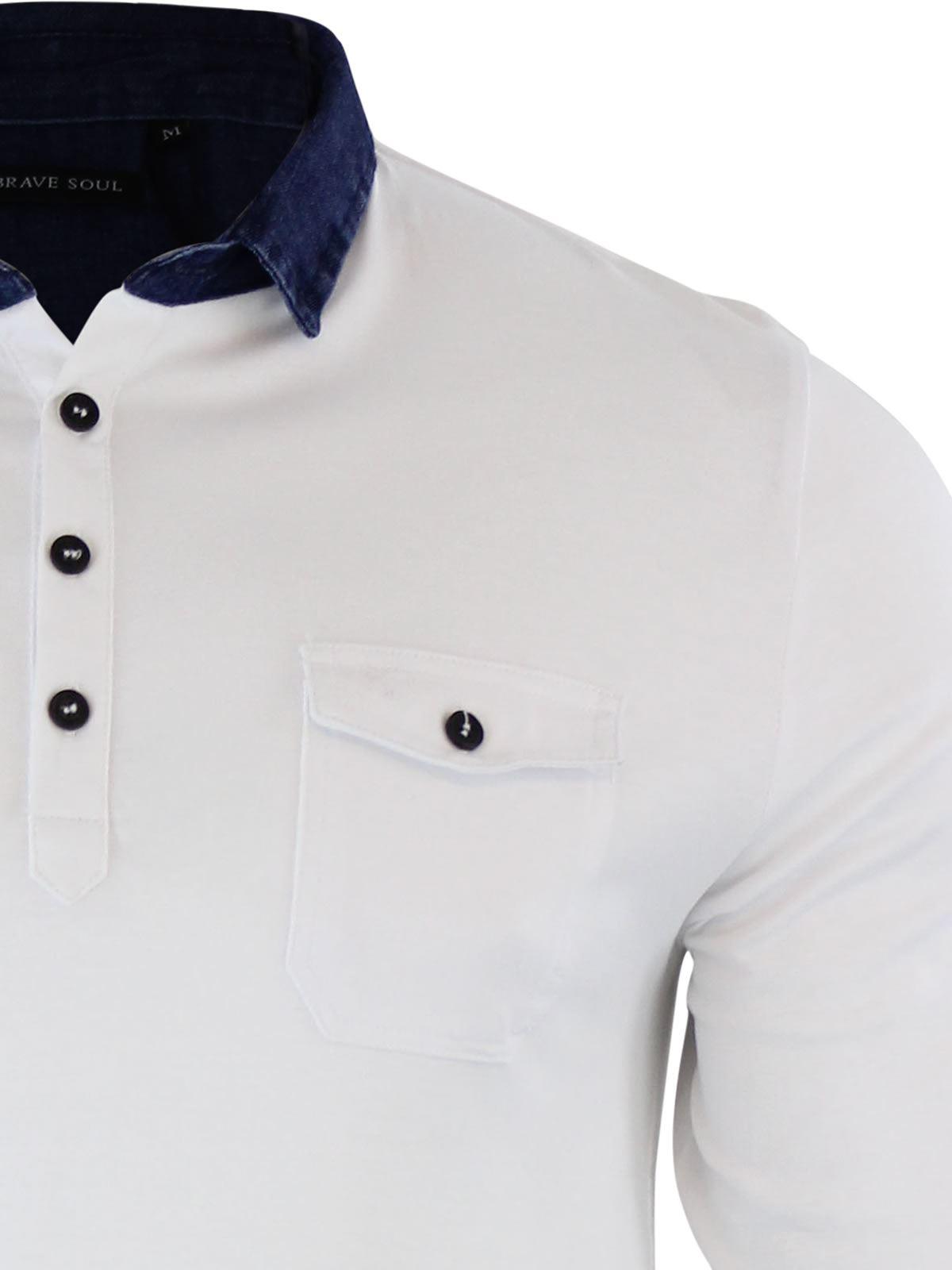 Brave-Soul-Polo-Homme-a-Manches-Longues-A-Col-Haut-Dans-Divers-Styles miniature 106