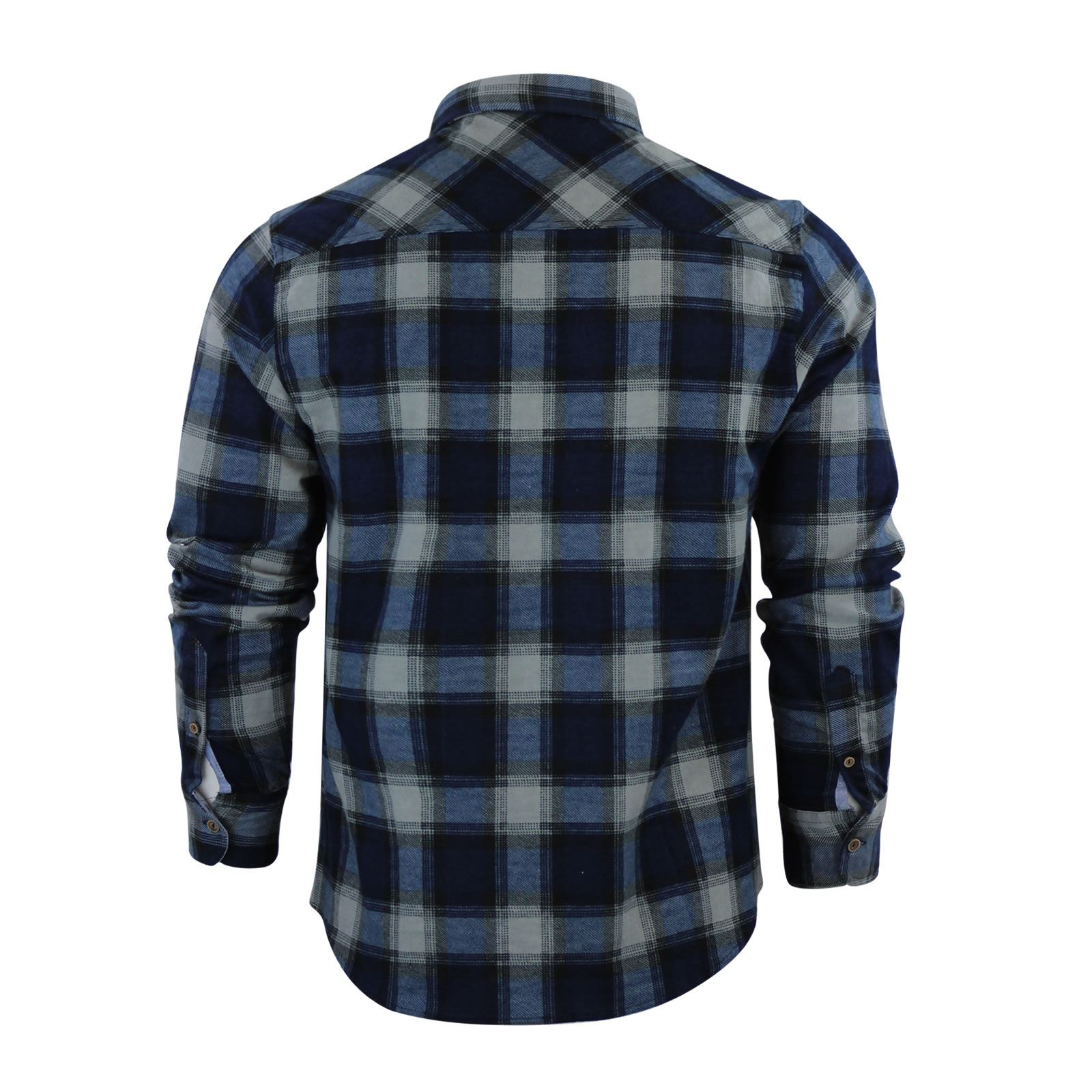 Mens-Check-Shirt-Brave-Soul-Flannel-Brushed-Cotton-Long-Sleeve-Casual-Top thumbnail 39