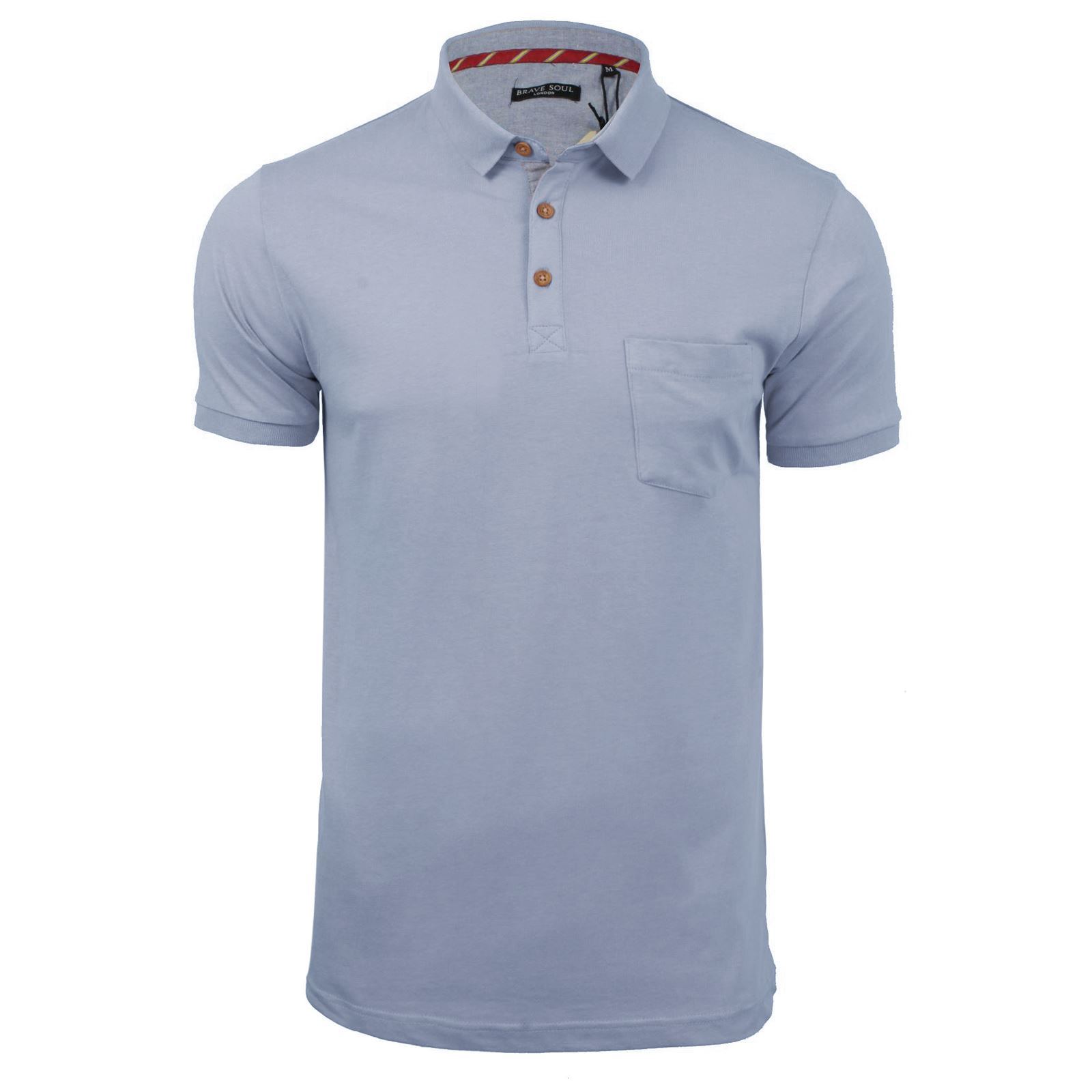 Mens-Polo-T-Shirt-Brave-Soul-Glover-Cotton-Collared-Short-Sleeve-Casual-Top thumbnail 54