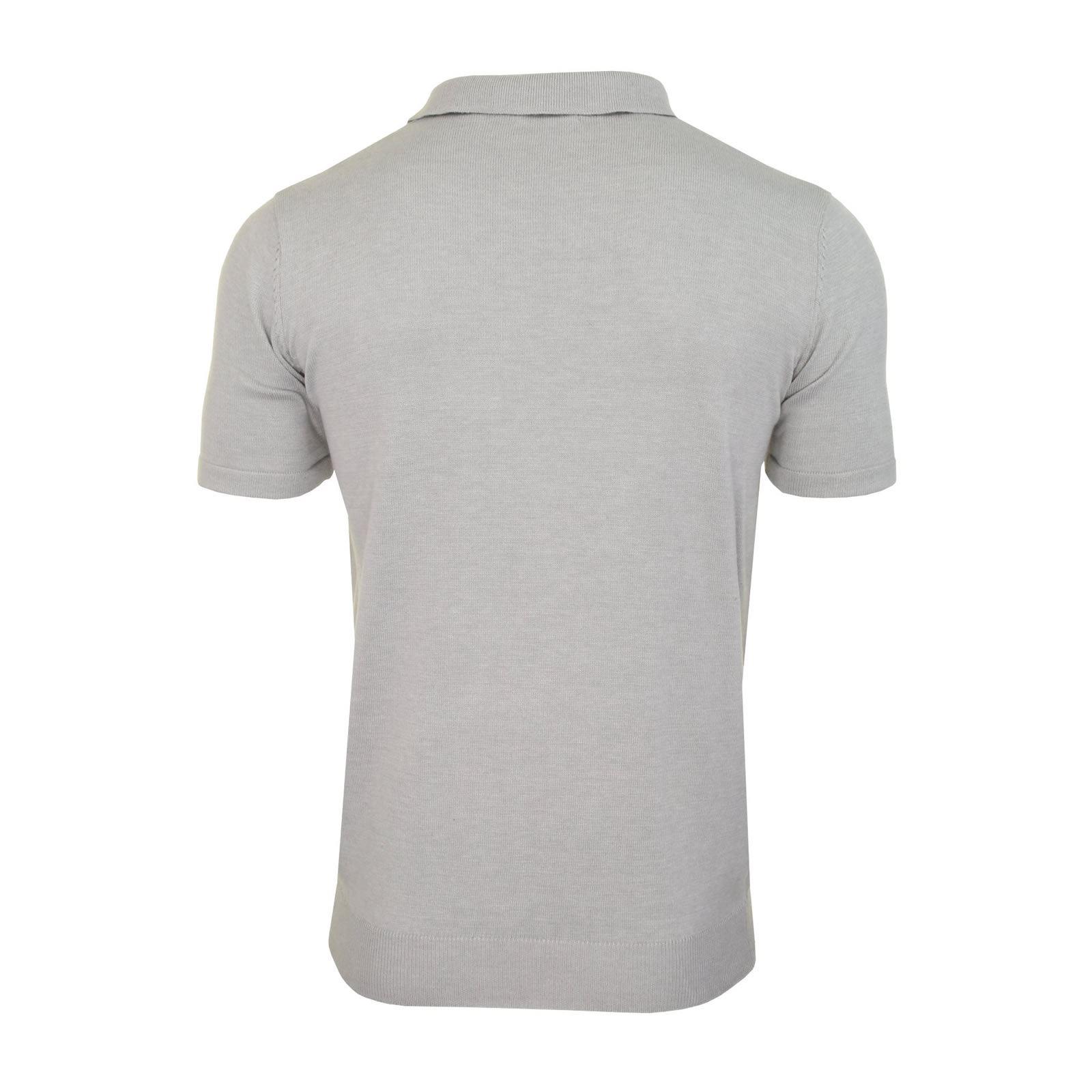 Mens-Knitted-Polo-Brave-Soul-Columbus-Collared-Short-Sleeve-Jumper-T-Shirt thumbnail 11