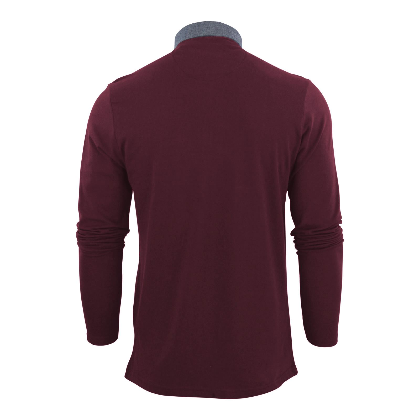 Mens-Polo-T-Shirt-Brave-Soul-Hera-Cotton-Long-Sleeve-Casual-Top thumbnail 33