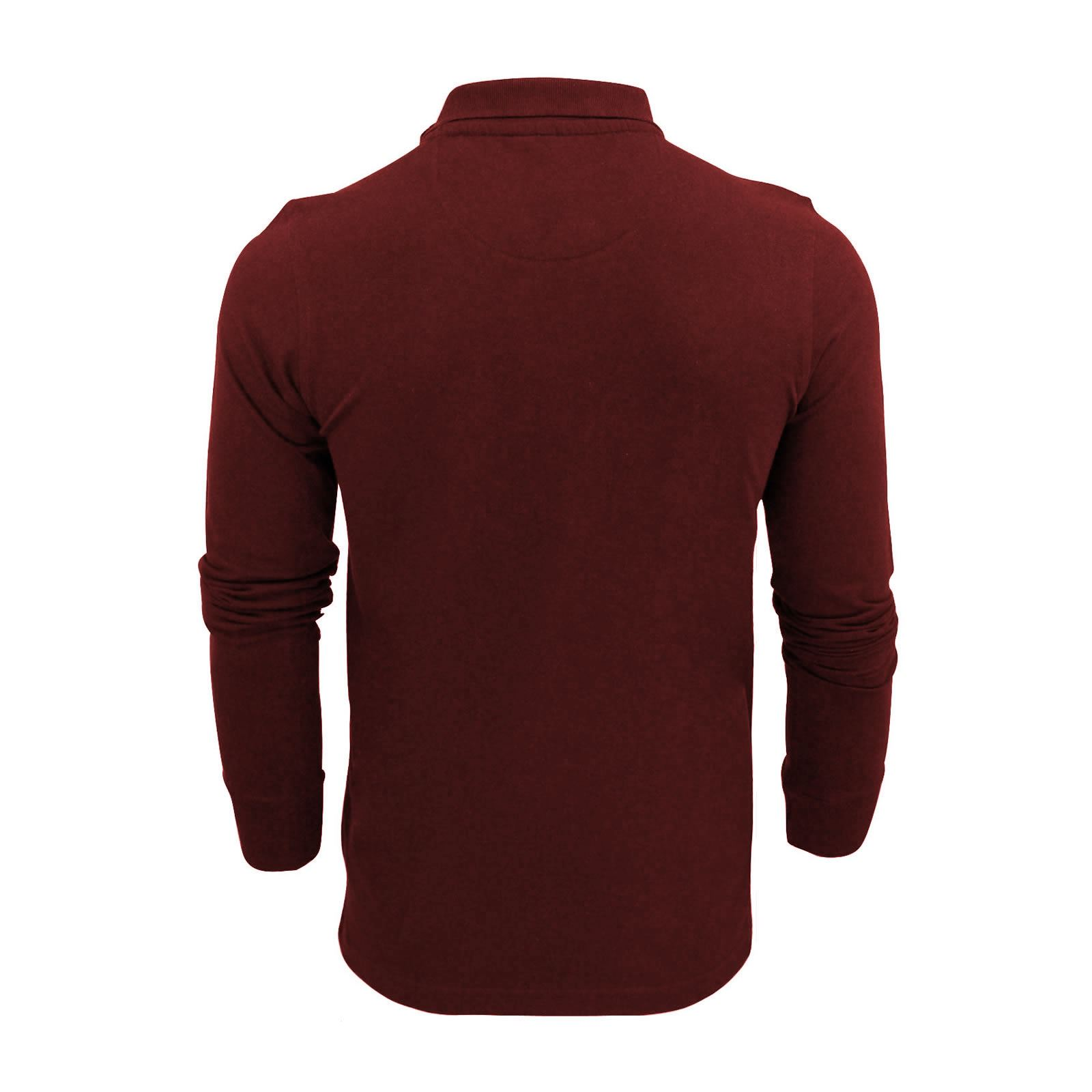 Brave-Soul-Mens-Polo-Shirt-Long-Sleeve-Collared-Top-In-Various-Styles thumbnail 17