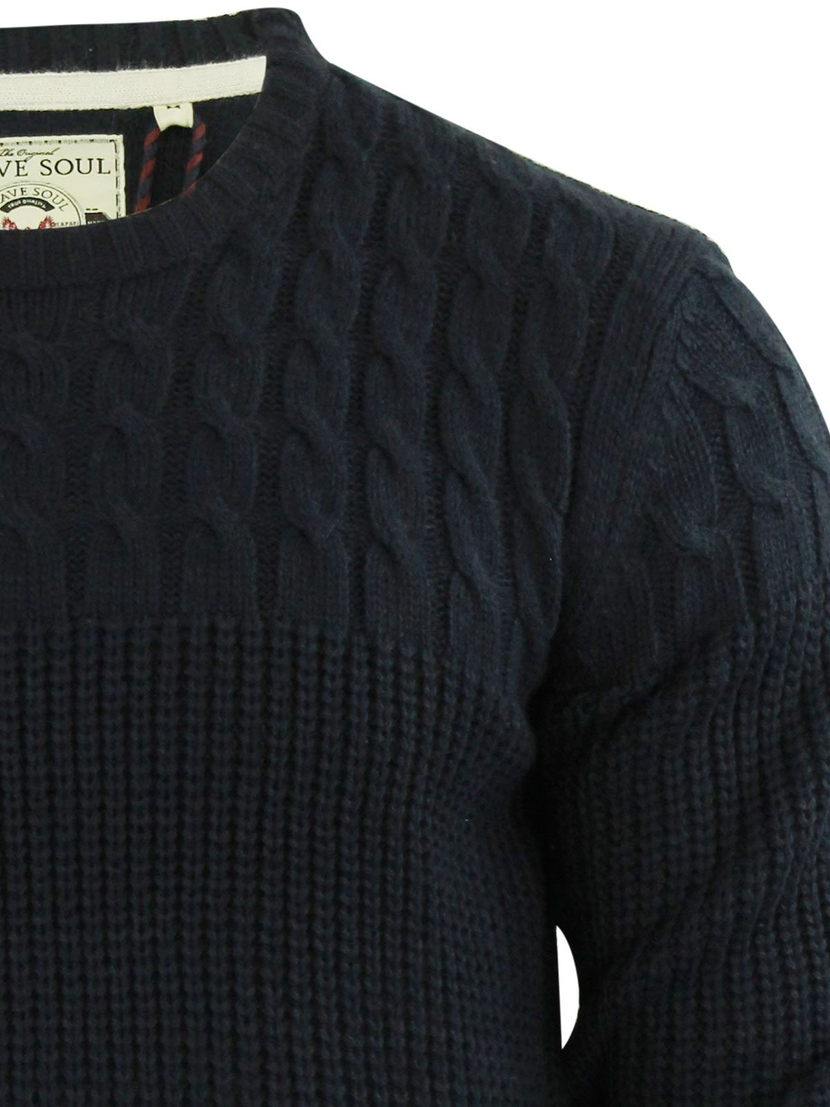 Mens-Jumper-Brave-Soul-Knitted-Sweater-In-Various-Styles thumbnail 106