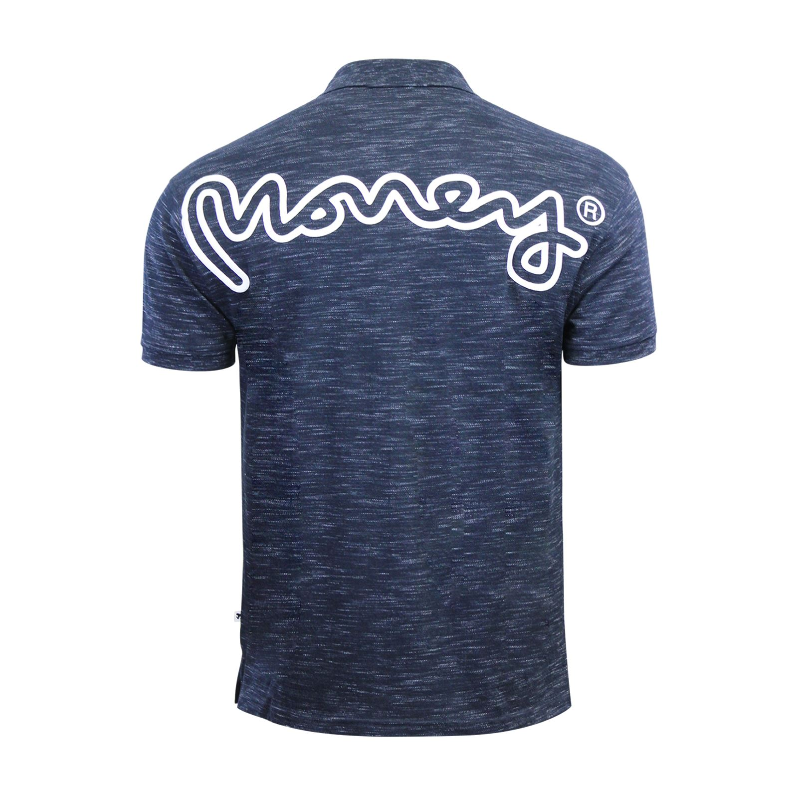 Mens-Polo-T-SHIRT-MONEY-toke-Rear-Printed-Short-Manche-Grindle-Collar-Casual-Top miniature 5