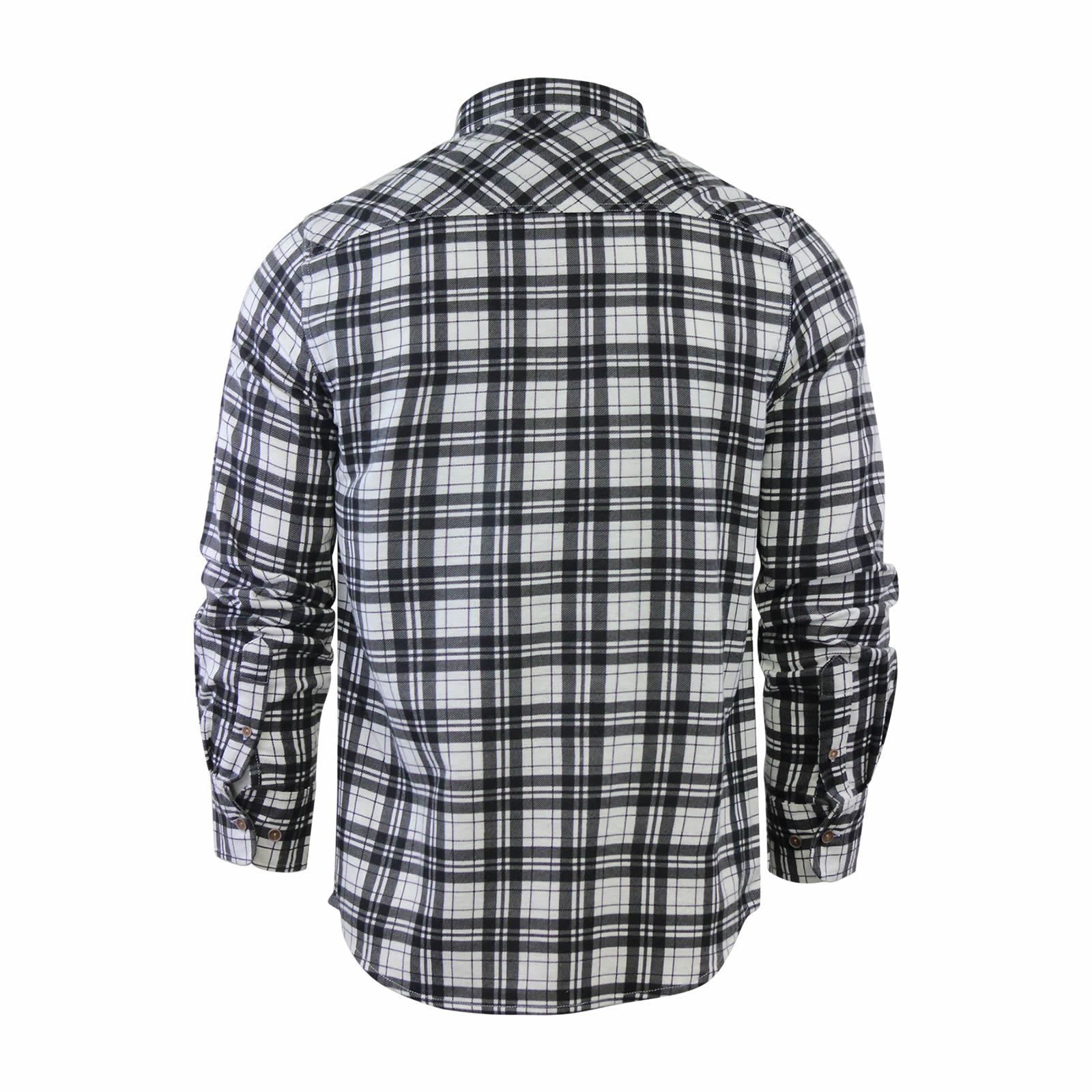 Mens-Check-Shirt-Brave-Soul-Flannel-Brushed-Cotton-Long-Sleeve-Casual-Top thumbnail 85