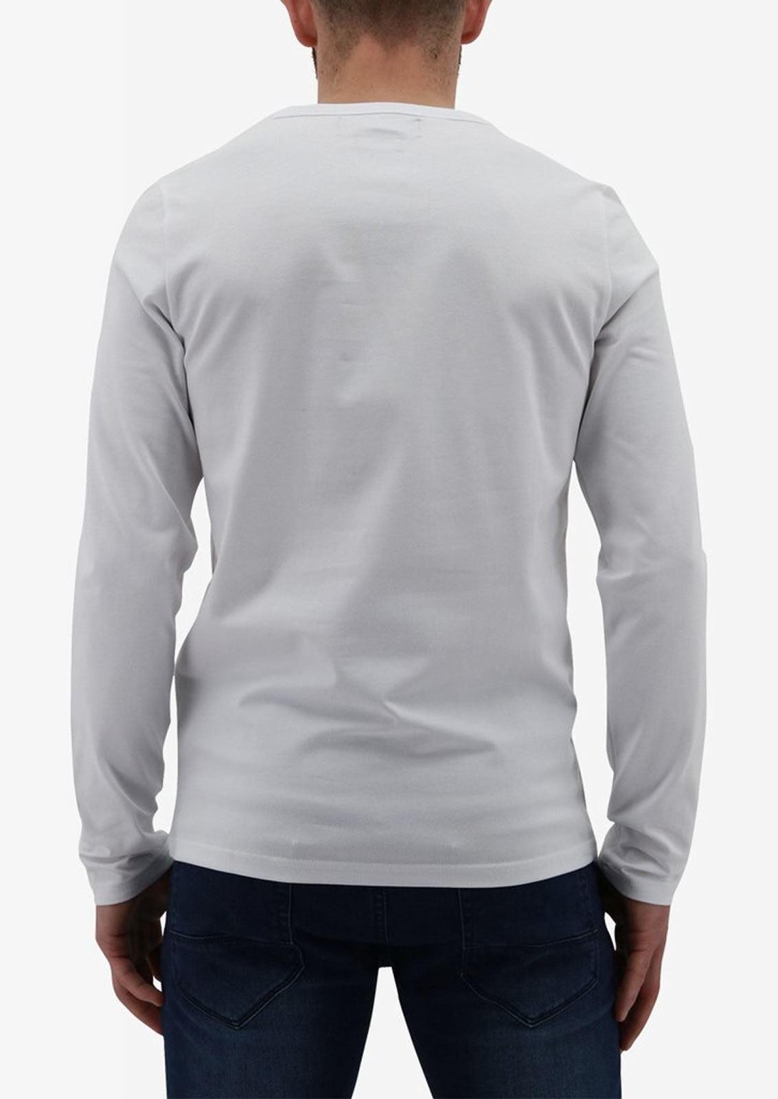 Ne-riche-par-l-039-argent-vetements-jaspe-sanguin-Hommes-T-Shirt-a-Manches-Longues-V-Neck-Tee miniature 3