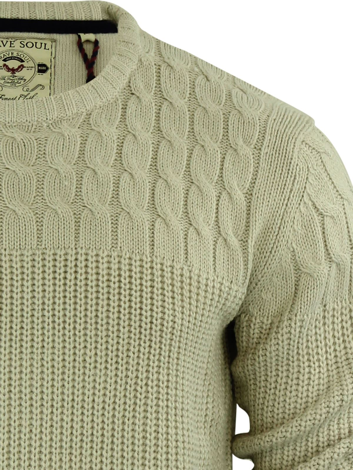 Mens-Jumper-Brave-Soul-Knitted-Sweater-In-Various-Styles thumbnail 109