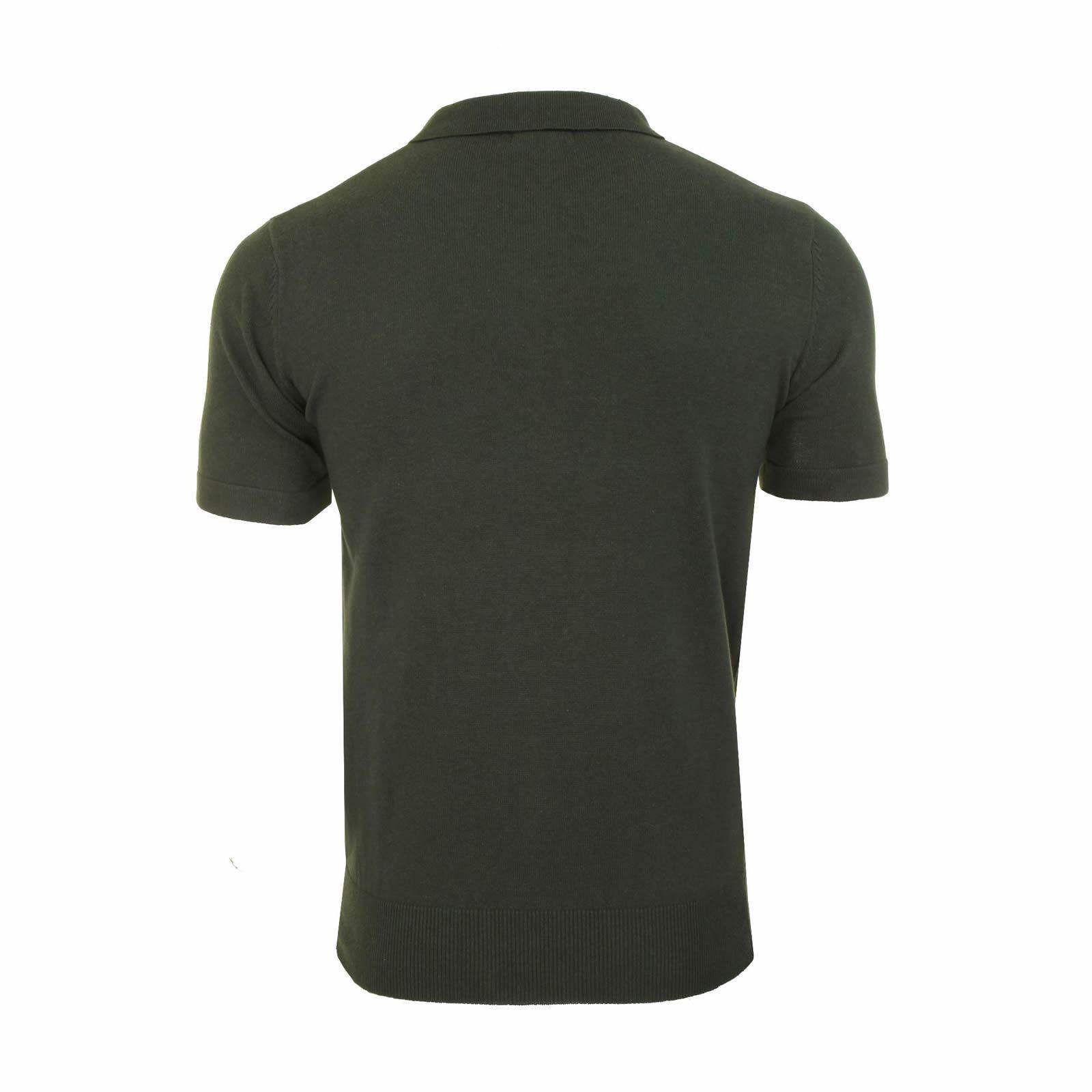 Mens-Knitted-Polo-Brave-Soul-Columbus-Collared-Short-Sleeve-Jumper-T-Shirt thumbnail 7