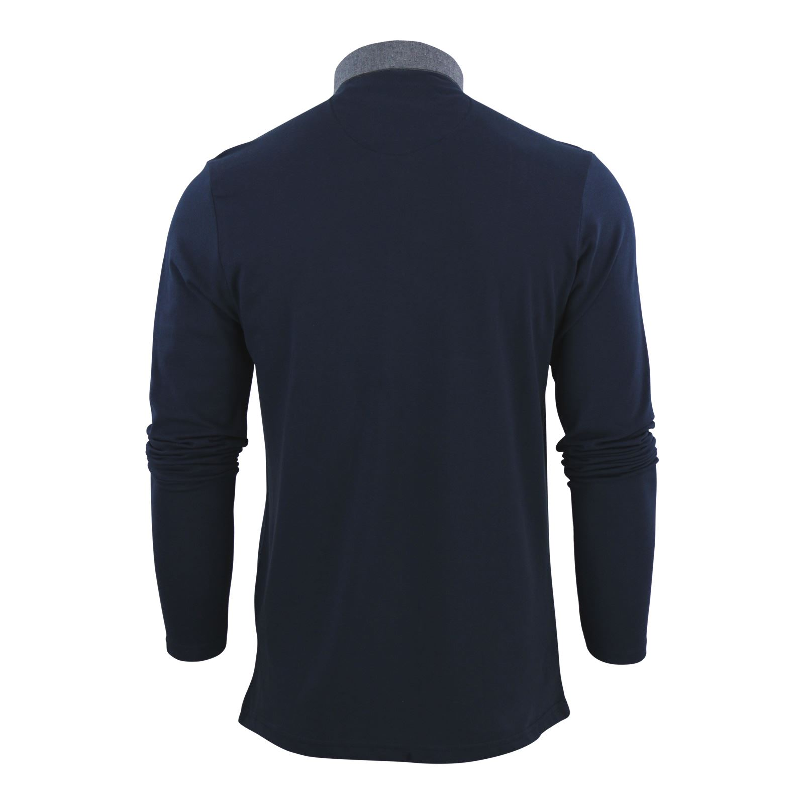 Brave-Soul-Mens-Polo-Shirt-Long-Sleeve-Collared-Top-In-Various-Styles thumbnail 75