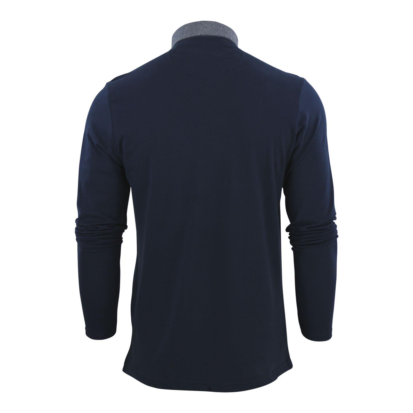 Brave-Soul-Polo-Homme-a-Manches-Longues-A-Col-Haut-Dans-Divers-Styles miniature 75