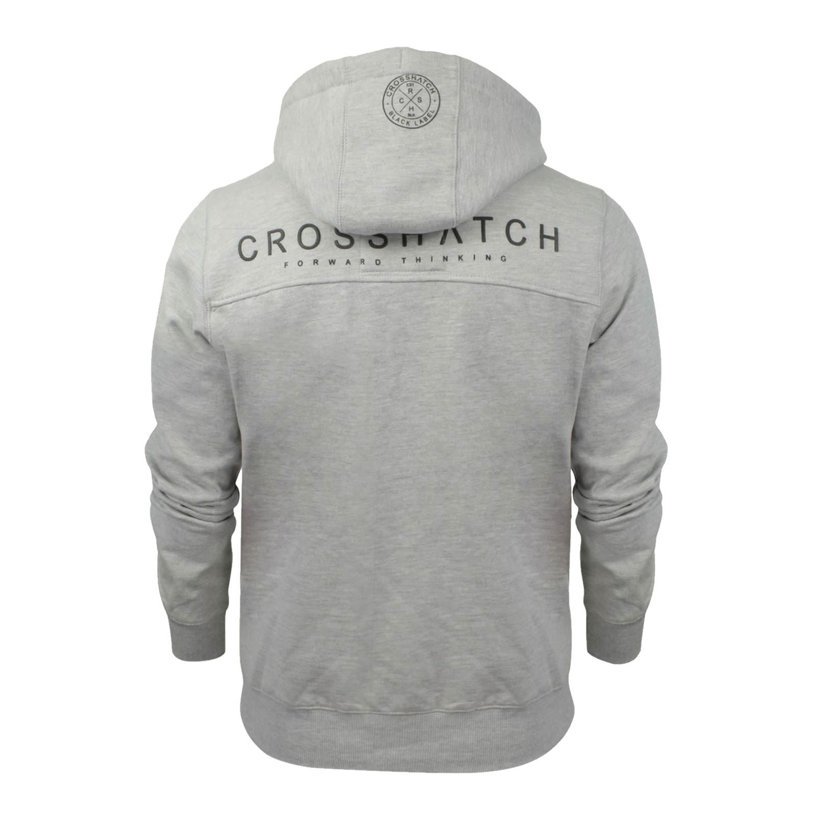 Mens-Hoodie-Crosshatch-Ribbler-Zip-Up-Hooded-Jacket-Pullover-Jumper-Sweatershirt thumbnail 28