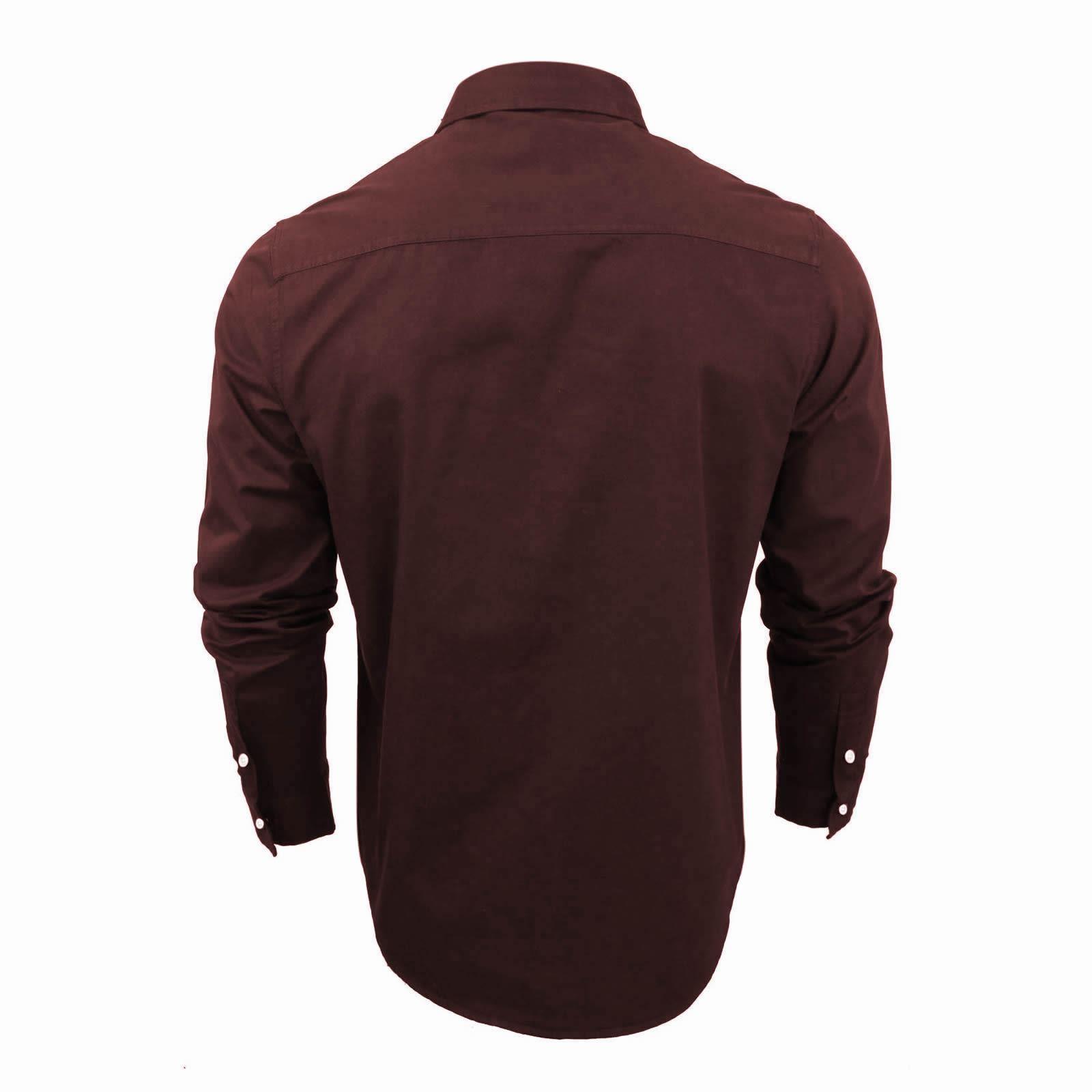 Mens-Shirt-Brave-Soul-Holmes-Long-Sleeve-Cotton-Canvas-Casual-Top thumbnail 7