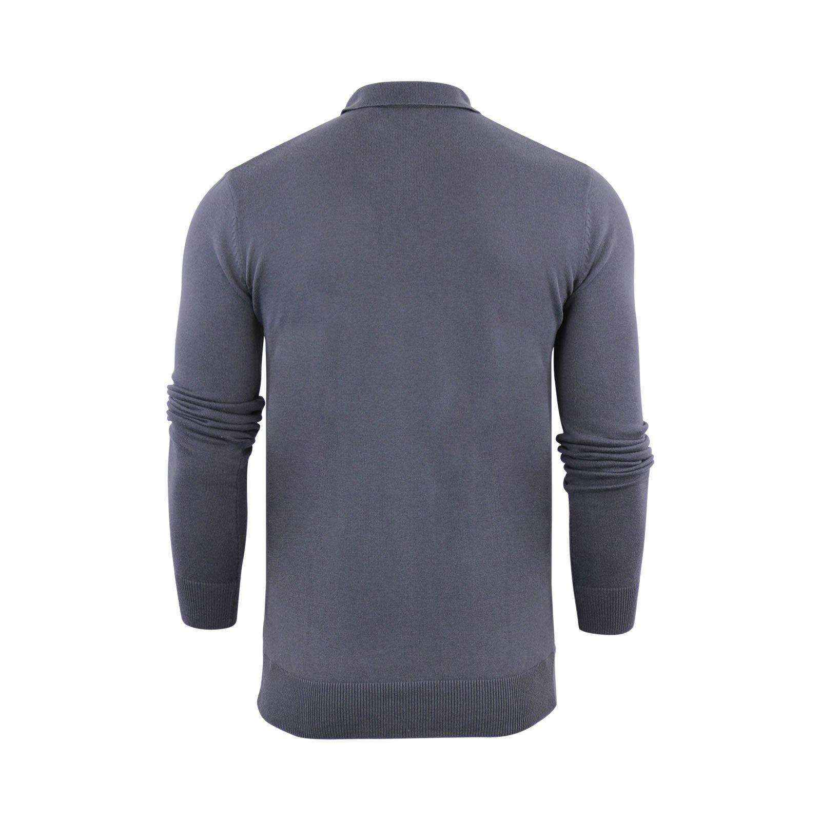 Brave-Soul-Patte-De-Boutonnage-Homme-Tricot-Polo-T-Shirt-a-Col-Pull miniature 12
