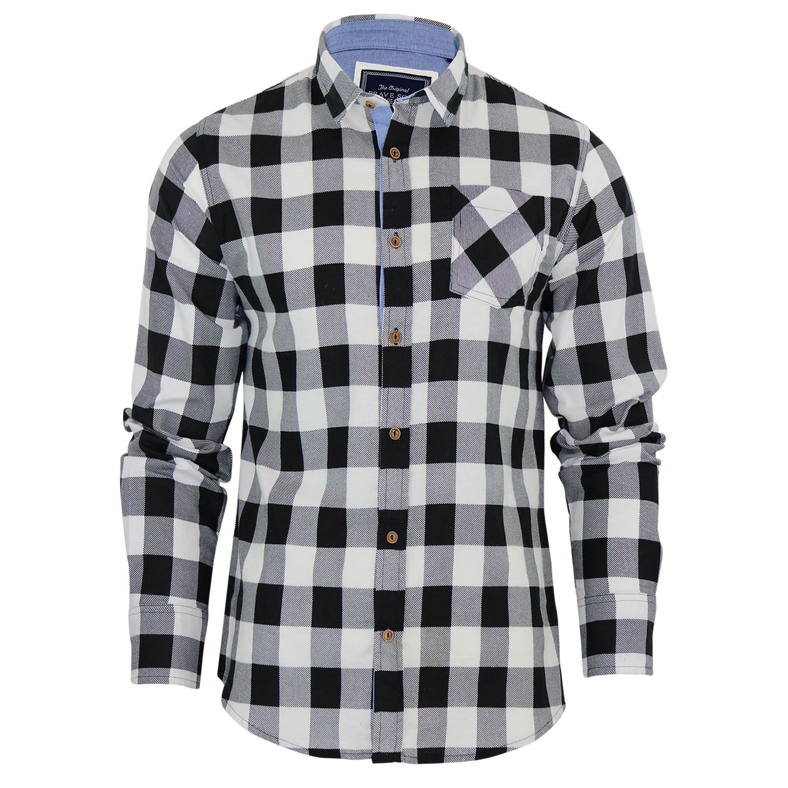 Brave-Soul-Mens-Check-Shirt-Flannel-Brushed-Cotton-Long-Sleeve-Casual-Top thumbnail 45