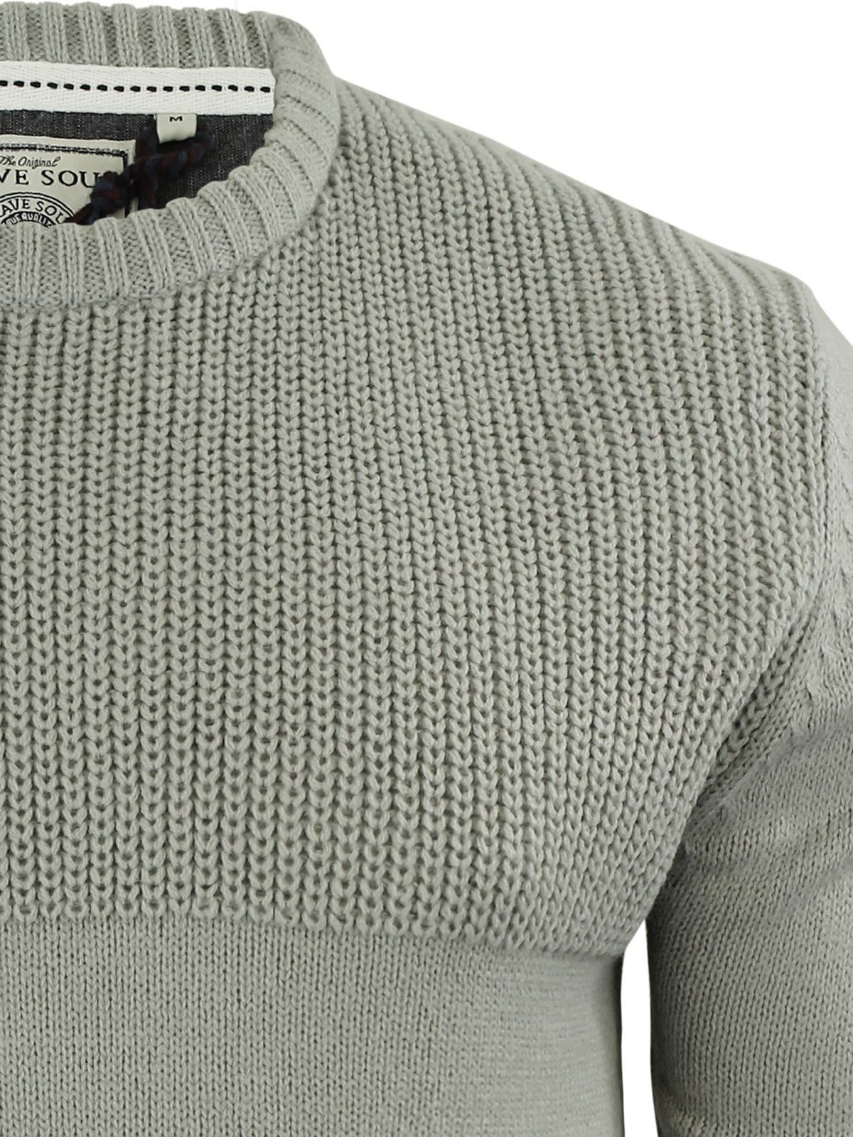 Mens-Jumper-Brave-Soul-Knitted-Sweater-In-Various-Styles thumbnail 29