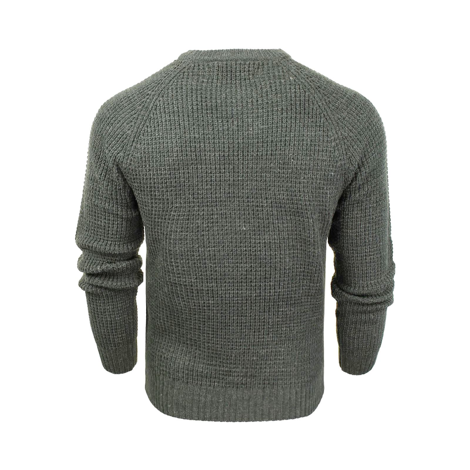 Mens-Jumper-Crosshatch-General-Waffle-Knitted-Crew-Neck-Wool-Mix-Sweater thumbnail 15