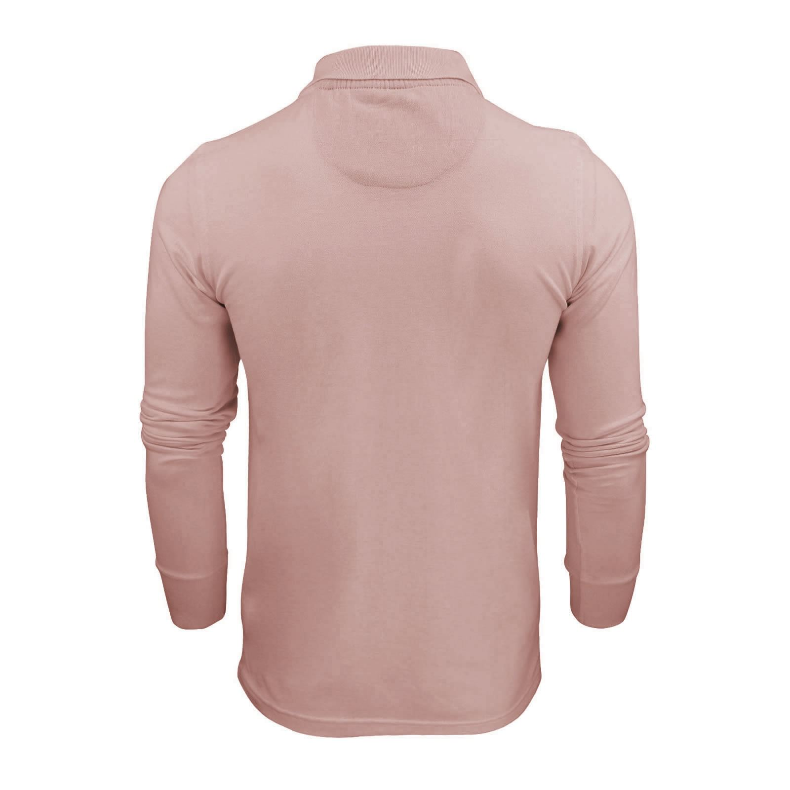 Mens-Polo-T-Shirt-Brave-Soul-Lincoln-Long-Sleeve-Cotton-Pique-Casual-Top thumbnail 33