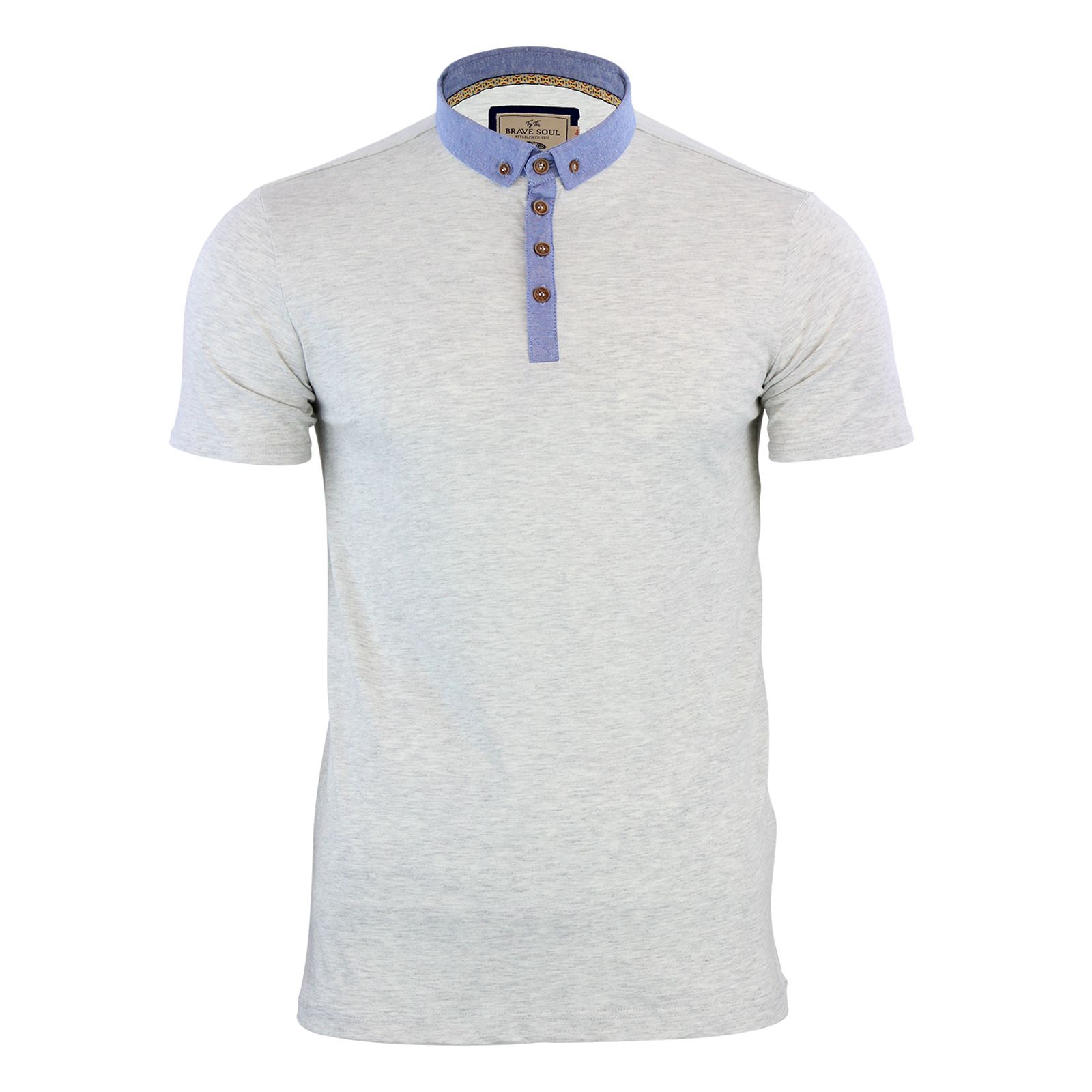 Brave-Soul-Glover-Mens-Polo-T-Shirt-Cotton-Collared-Short-Sleeve-Casual-Top thumbnail 8