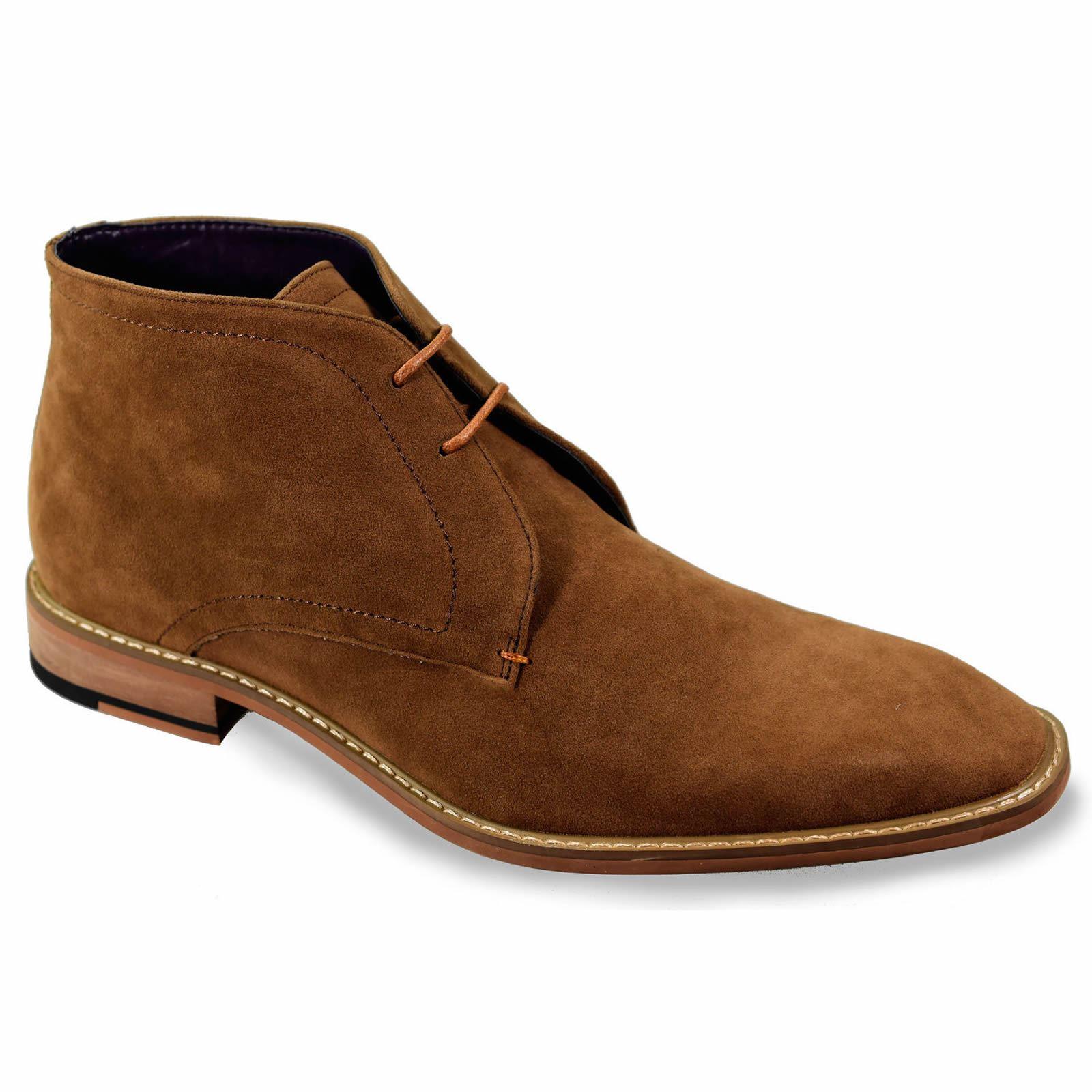 mens chelsea boots cavani suede lace up classic mod