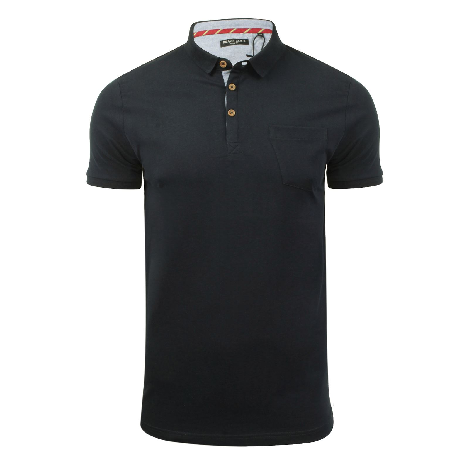 Brave-Soul-Julius-Mens-Polo-T-Shirt-Cotton-Collared-Short-Sleeve-Casual-Top miniature 14