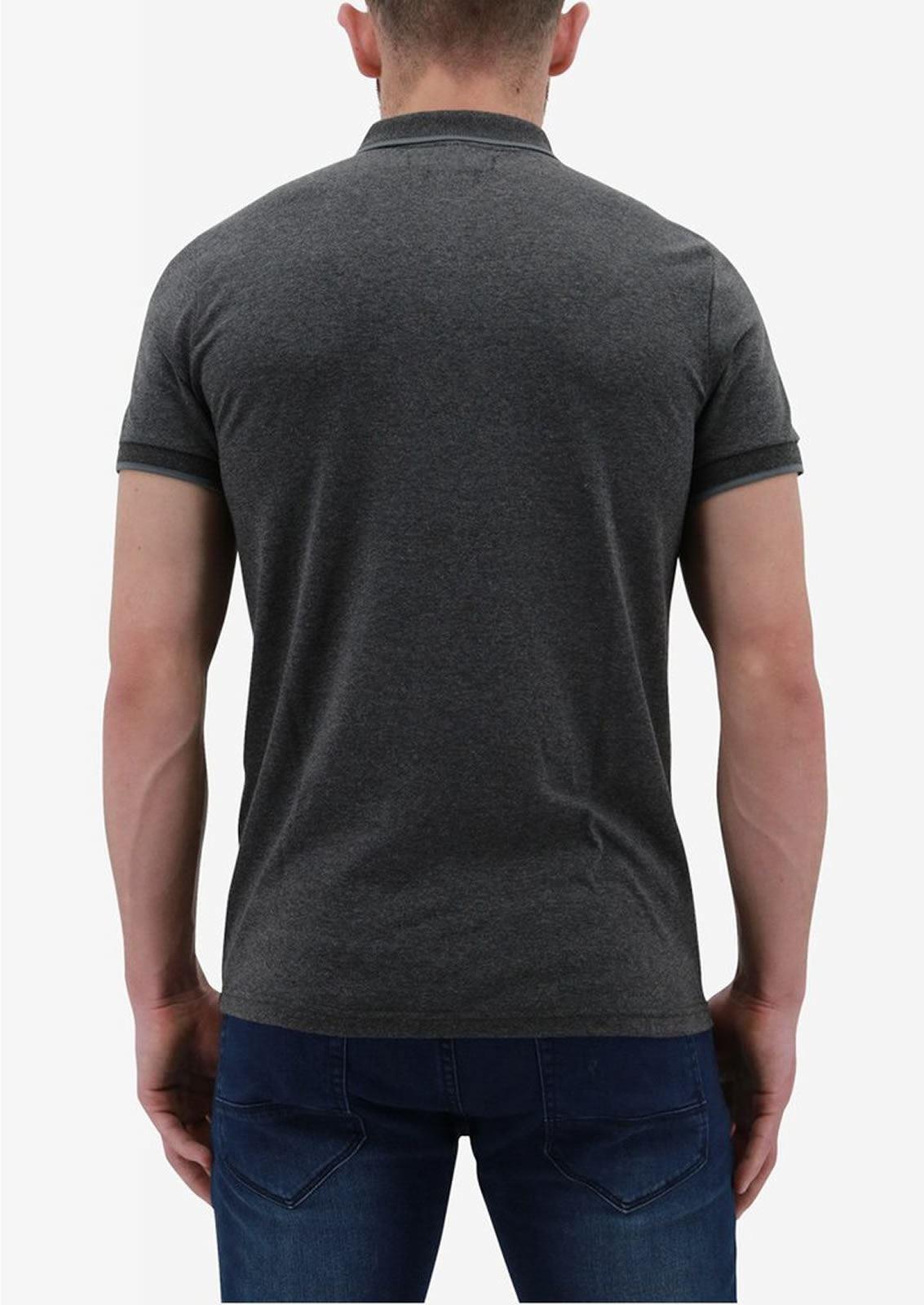 Ne-riche-par-l-039-argent-vetements-Iolite-Homme-Polo-T-Shirt-Cloute-Col-Haut-Decontracte miniature 3