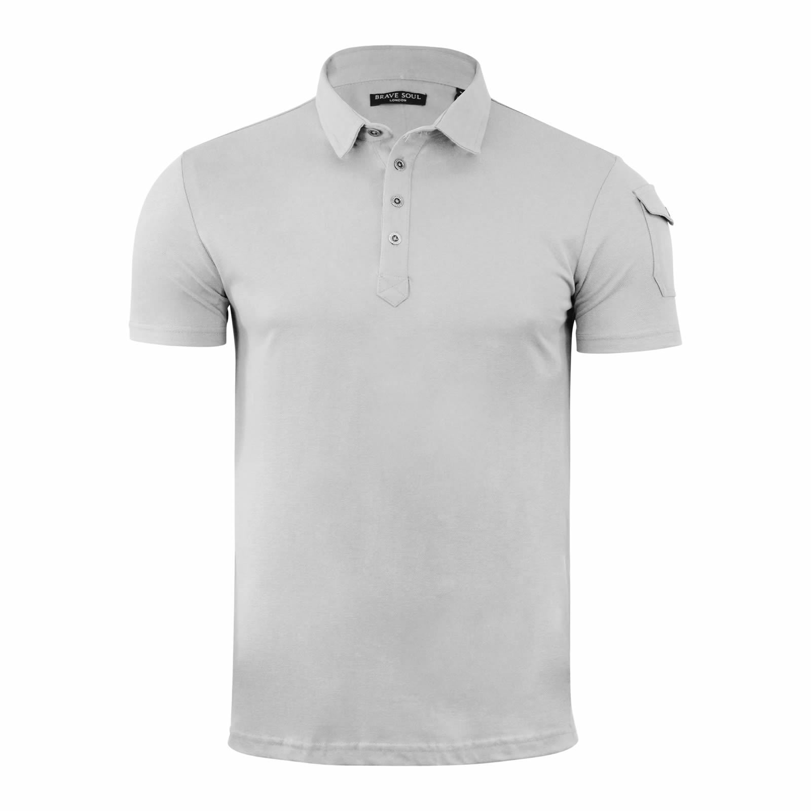 Mens-Polo-T-Shirt-Brave-Soul-Joe-Plain-Short-Sleeve-Collared-Casual-Top