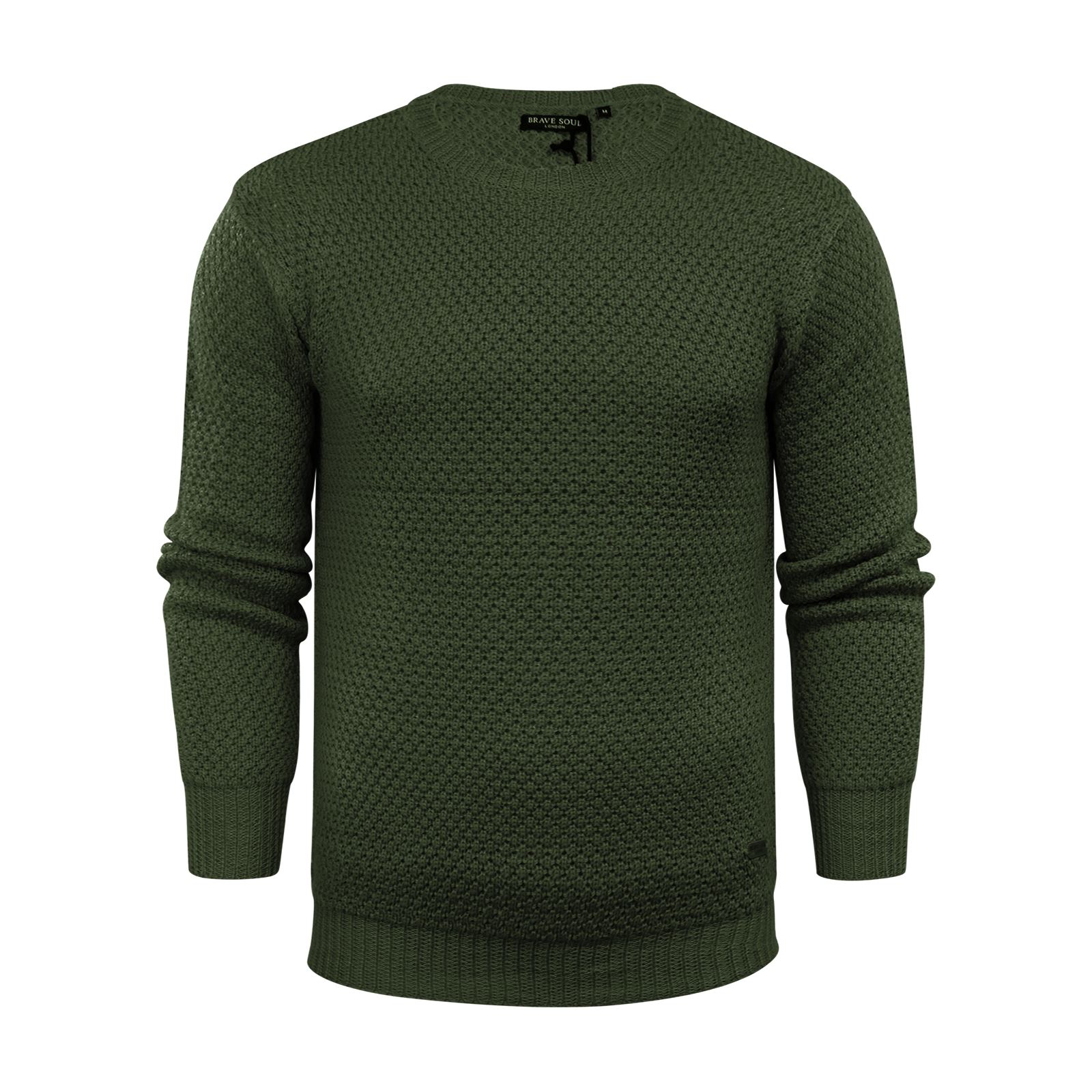 Mens-Jumper-Brave-Soul-Knitted-Sweater-In-Various-Styles thumbnail 32