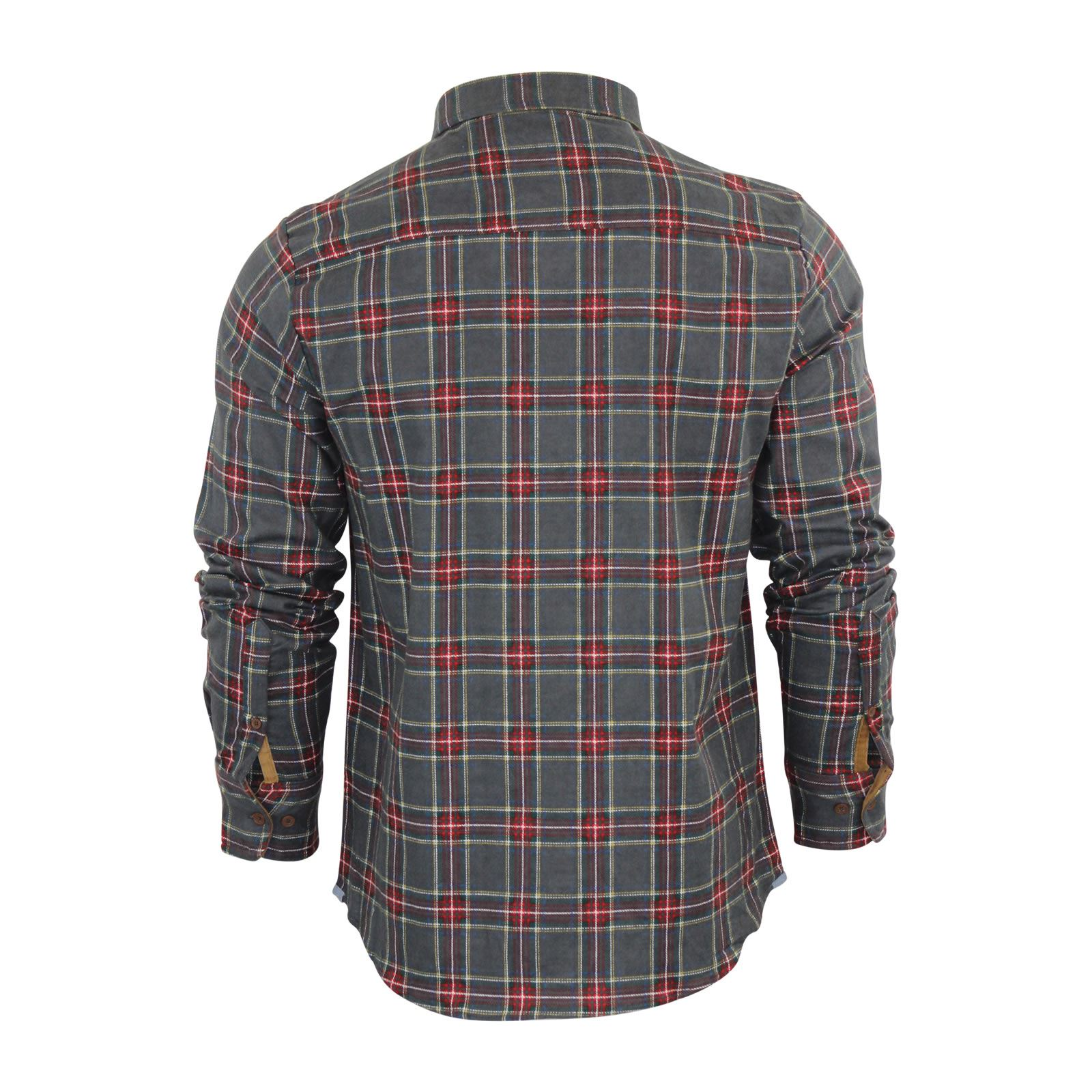 Mens-Check-Shirt-Brave-Soul-Flannel-Brushed-Cotton-Long-Sleeve-Casual-Top thumbnail 12