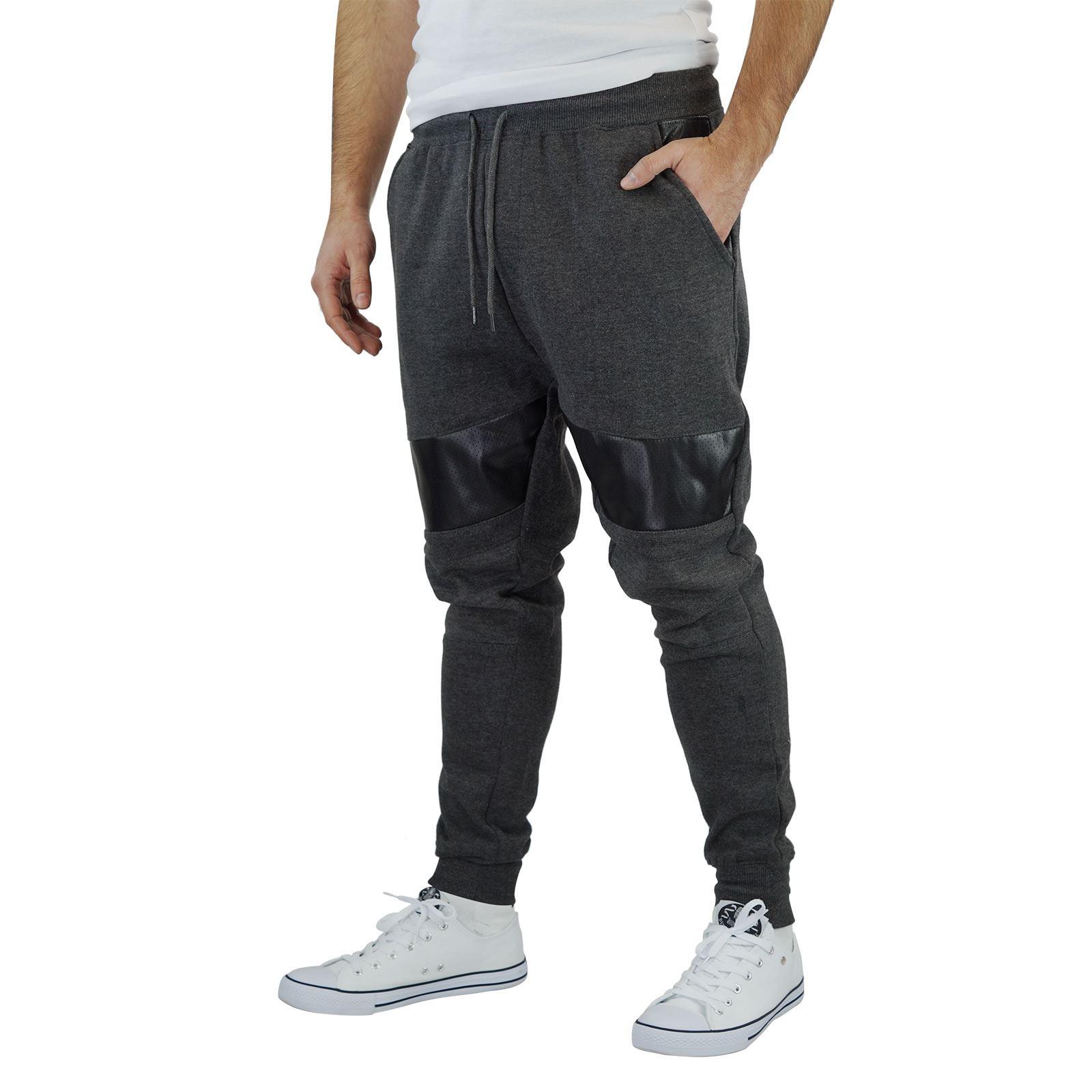 miniature 3 - Homme-Pantalon-De-Survetement-Brave-Soul-Sean-Slim-Motard-Panneau-Detail-Decontracte-Pantalon
